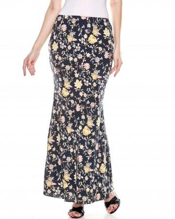 Black Floral Mermaid Skirt