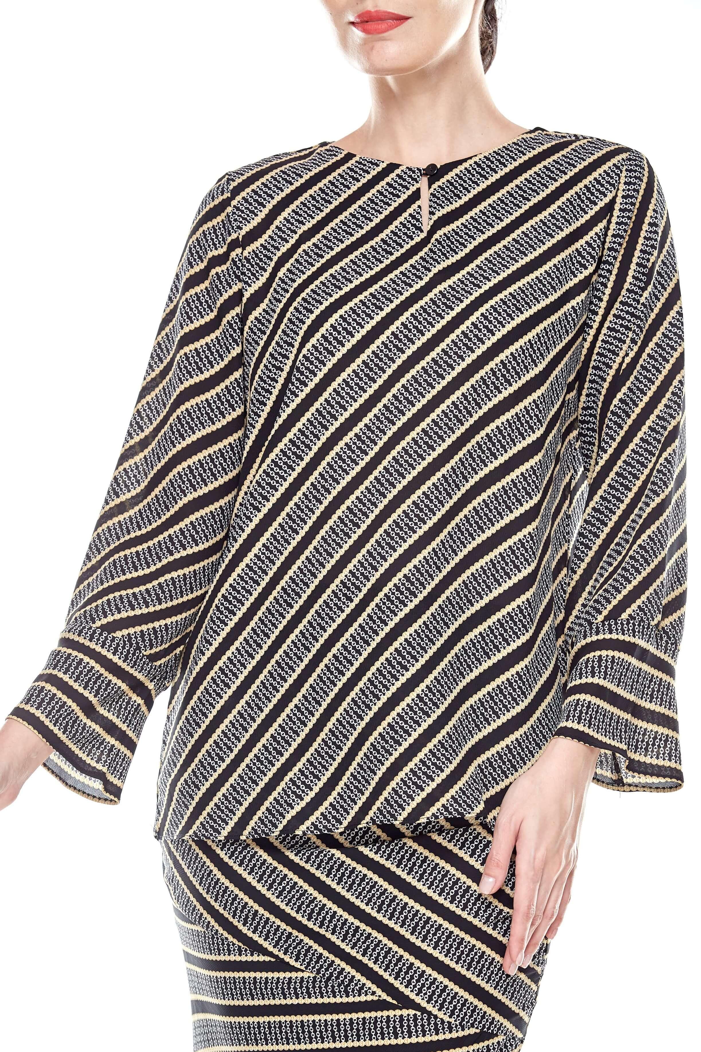 Black Striped Blouse (3)