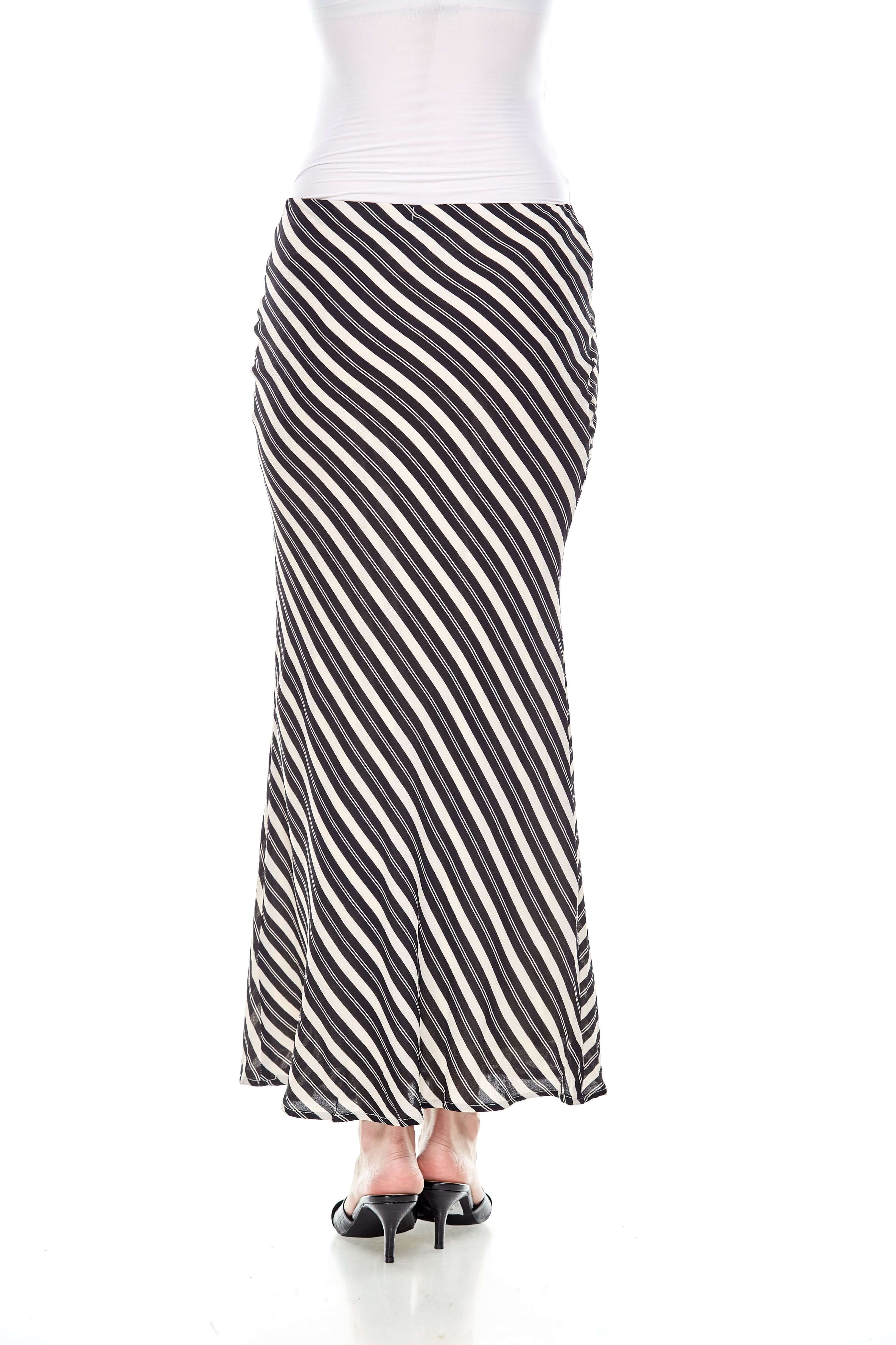 Black Striped Mermaid Skirt (6)