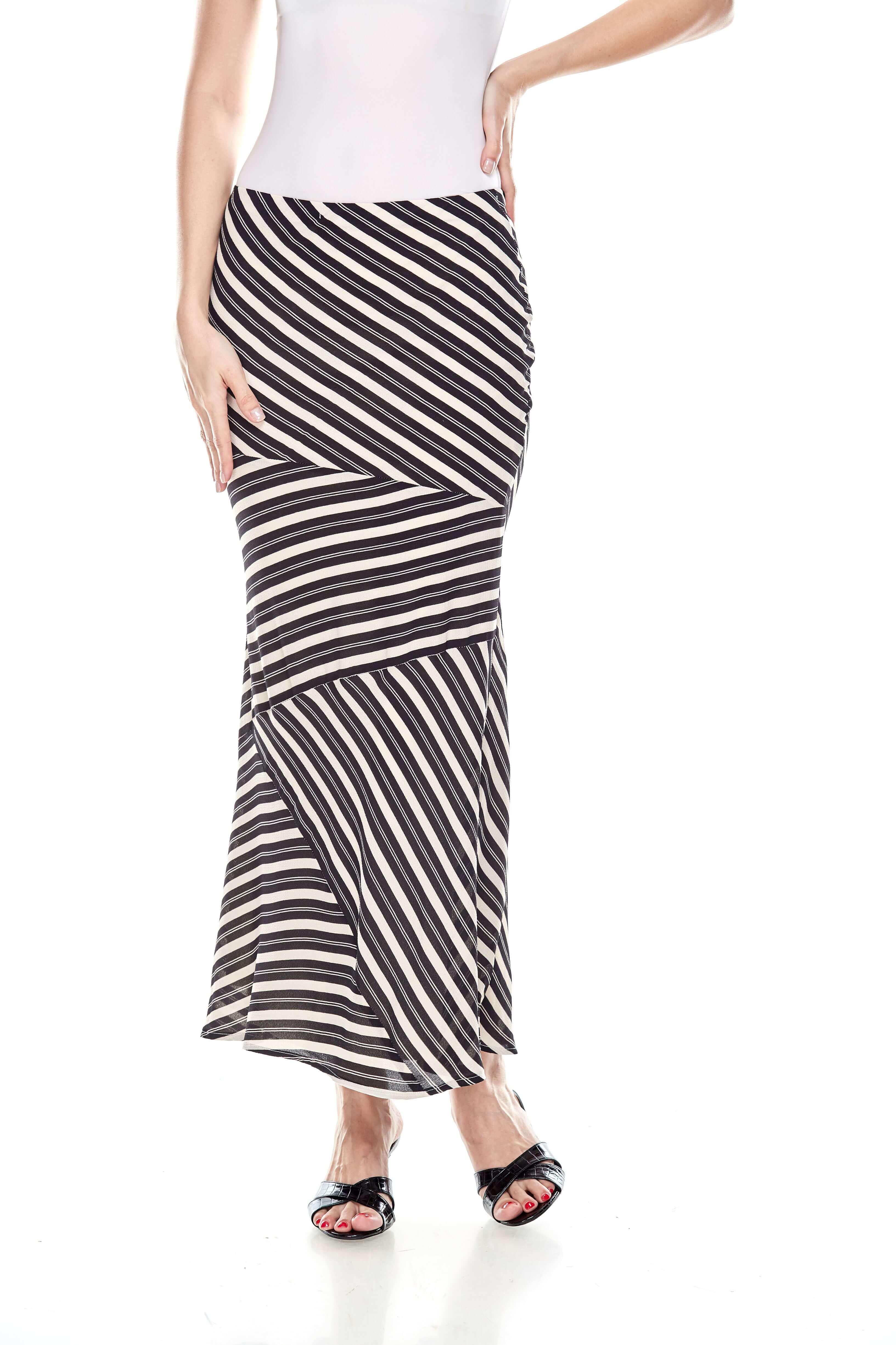 Black Striped Mermaid Skirt