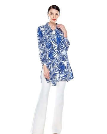 Blue Bamboo Shirt Blouse