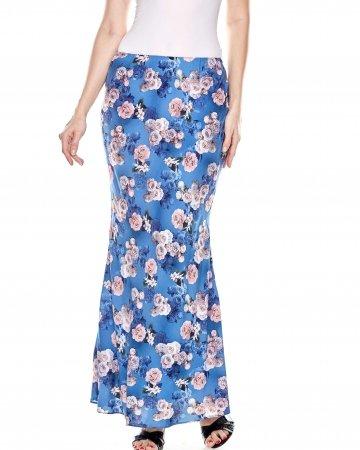 Blue Rose Mermaid Skirt