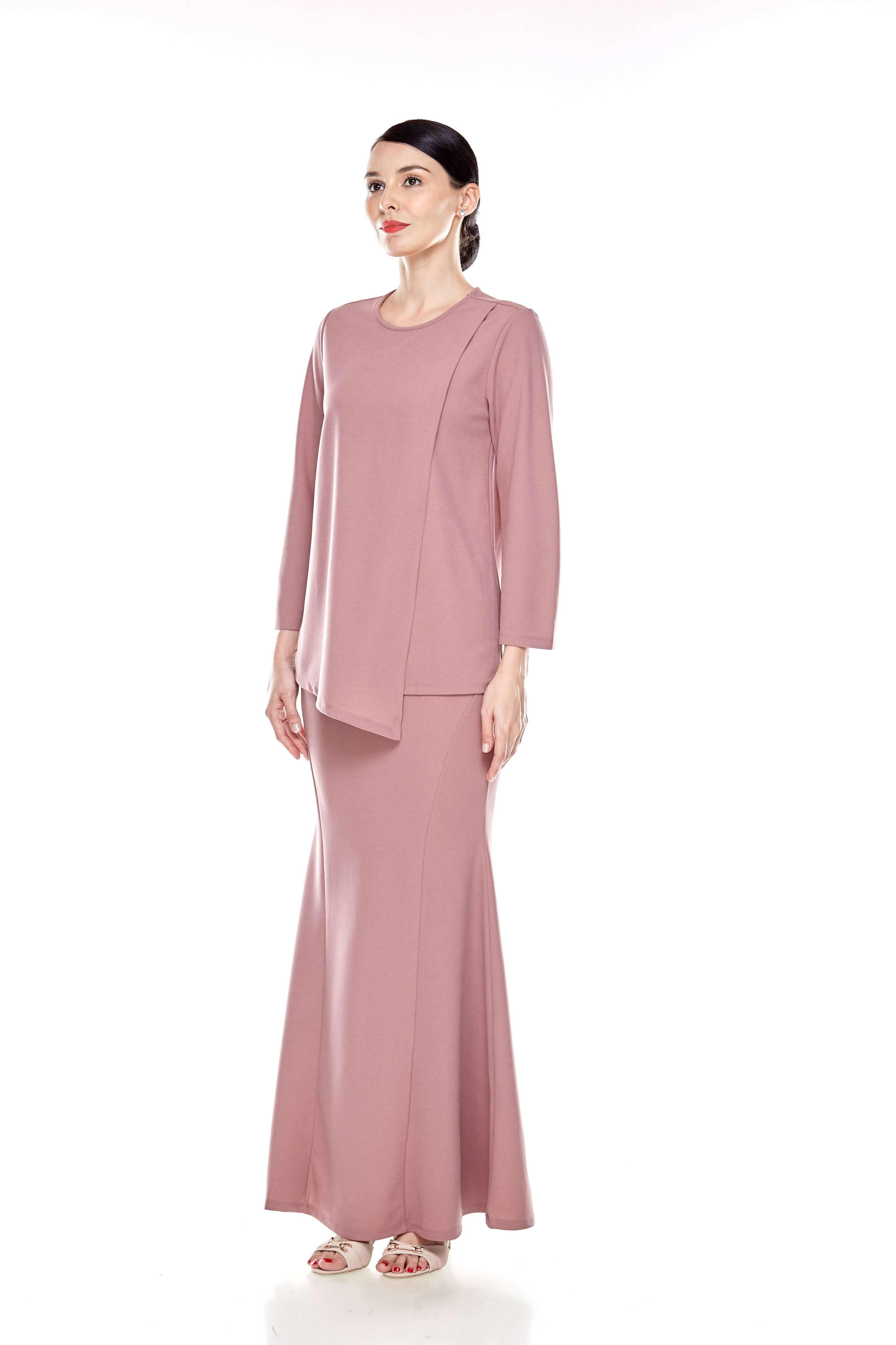 Deep Pink Overlap Blouse (4)