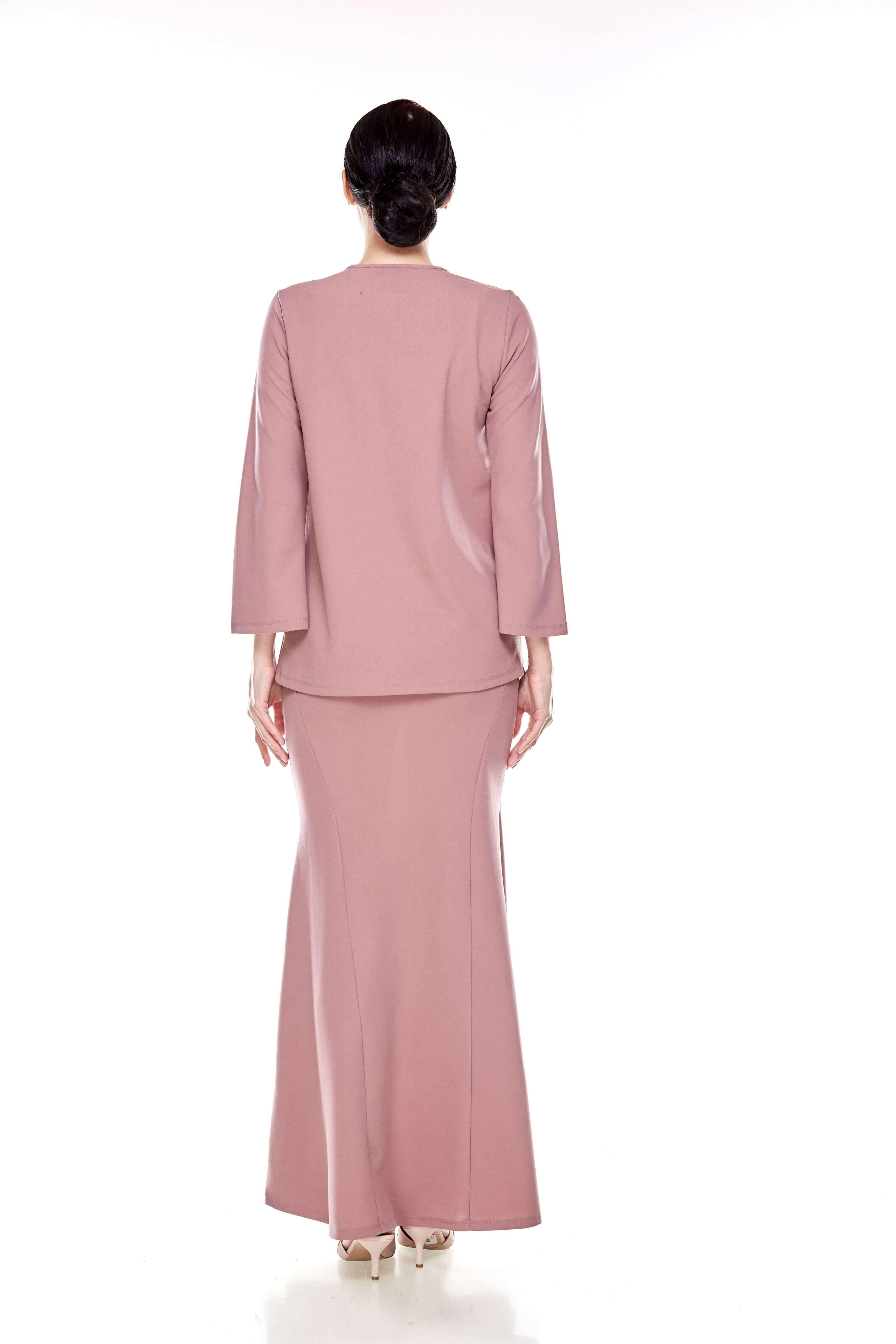 Deep Pink Overlap Blouse (6)