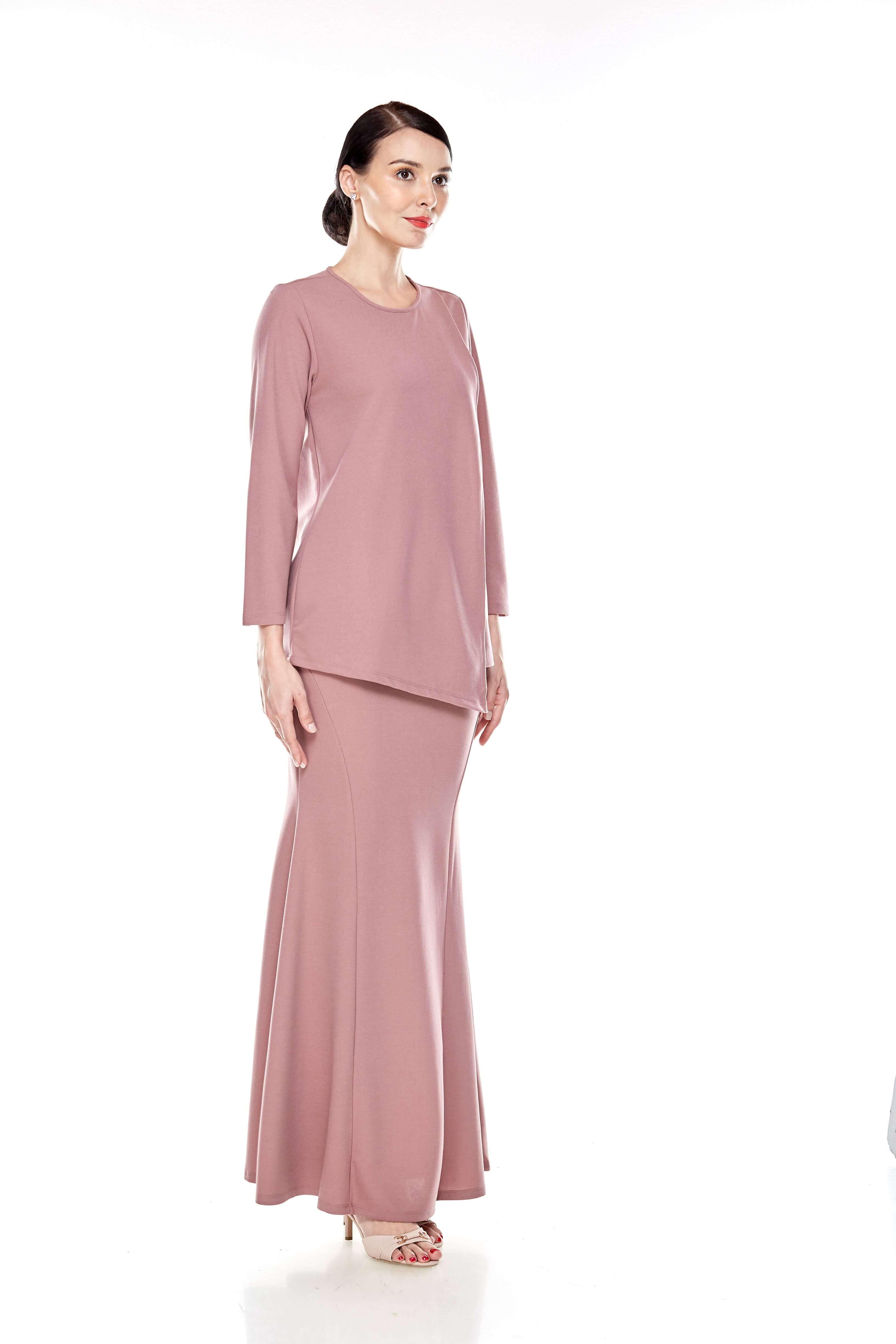 Deep Pink Overlap Blouse (8)