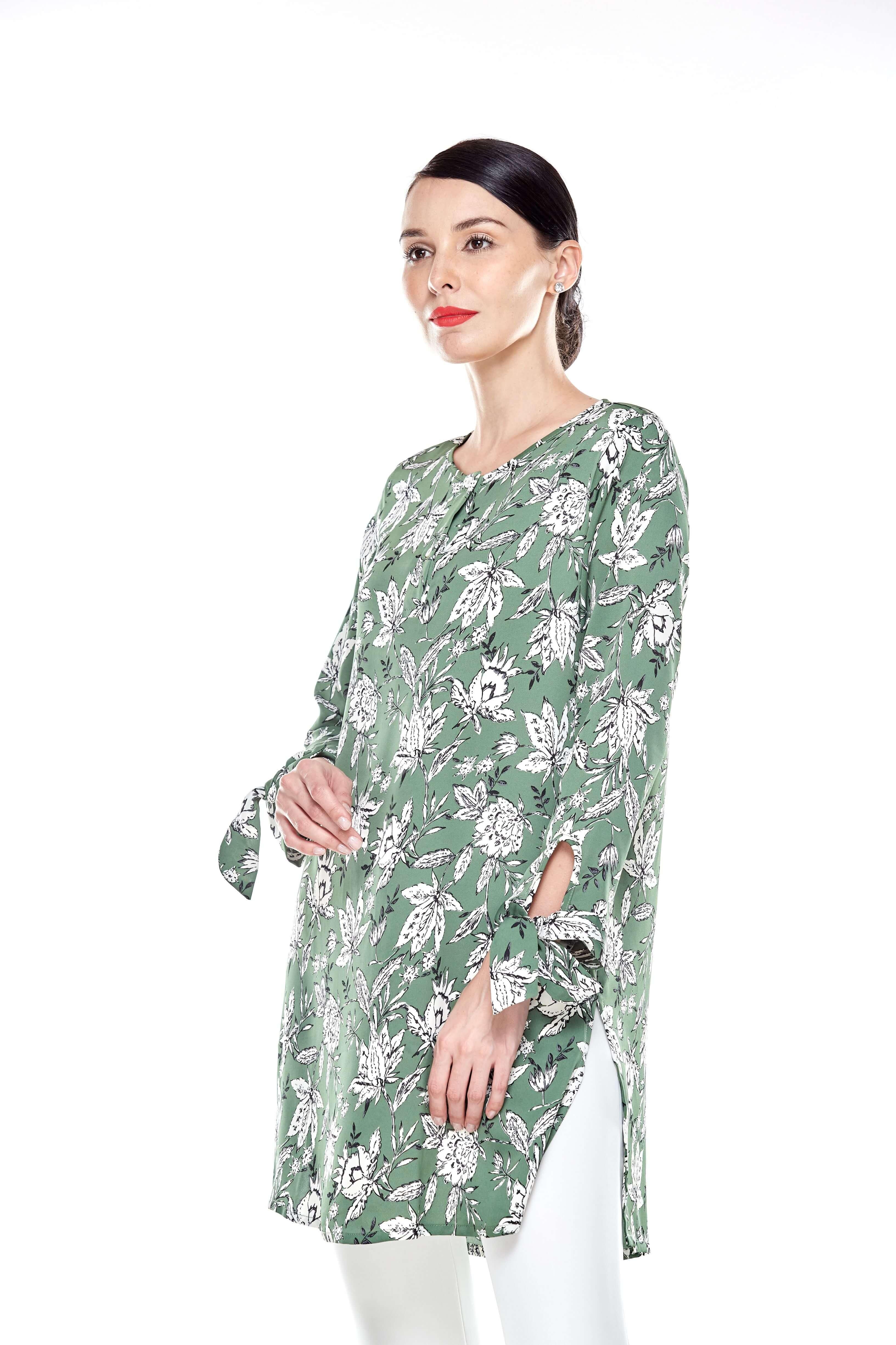 Green Printed Tunic (2)