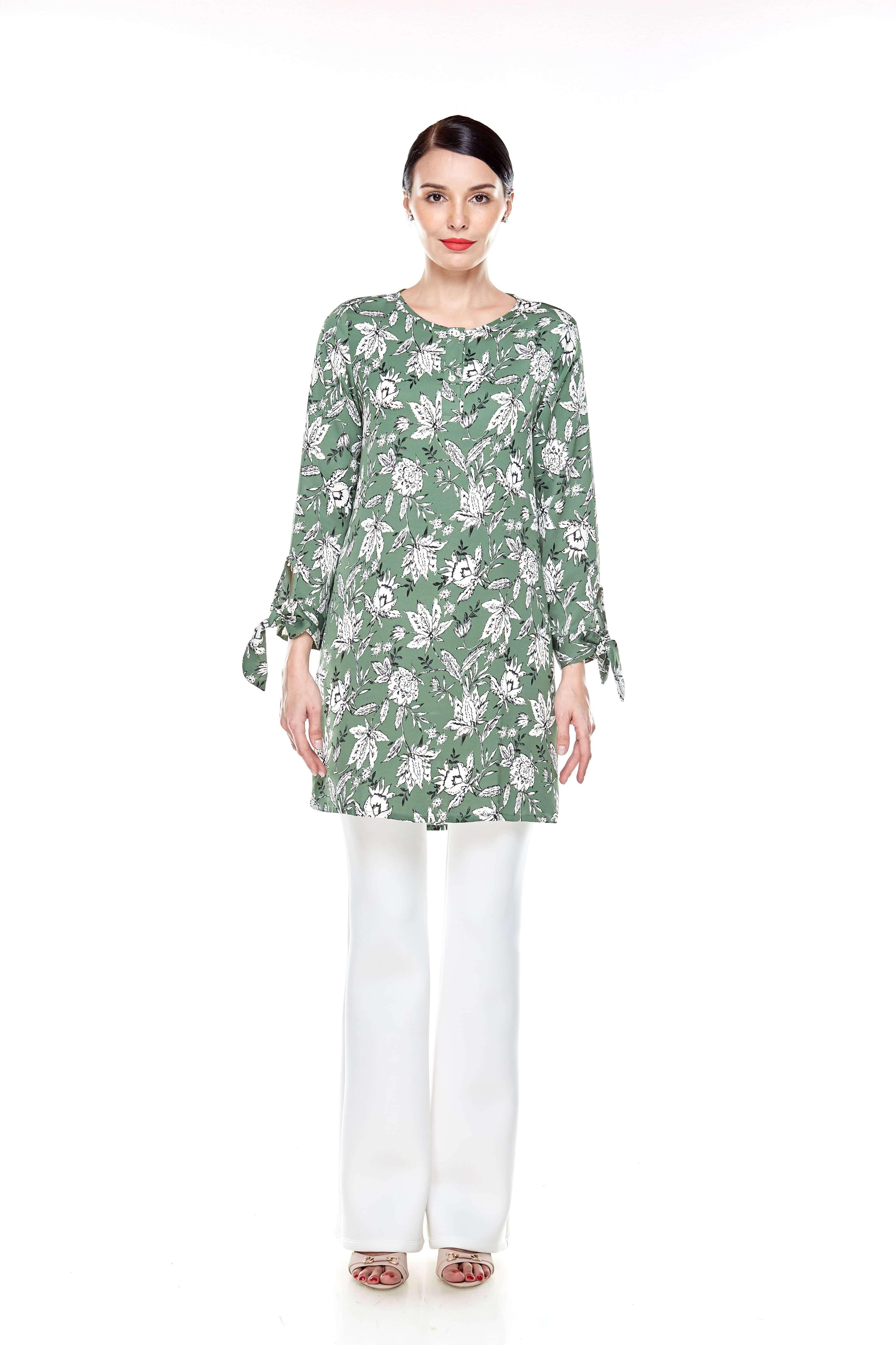 Green Printed Tunic (3)