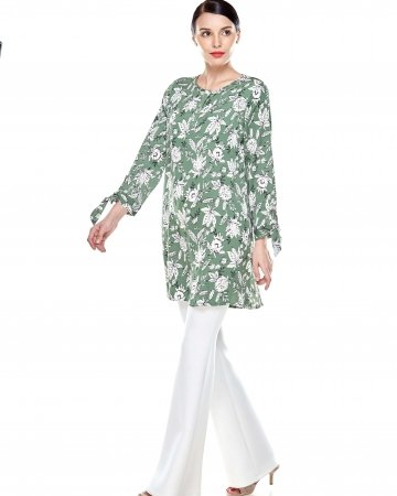 Green Printed Tunic