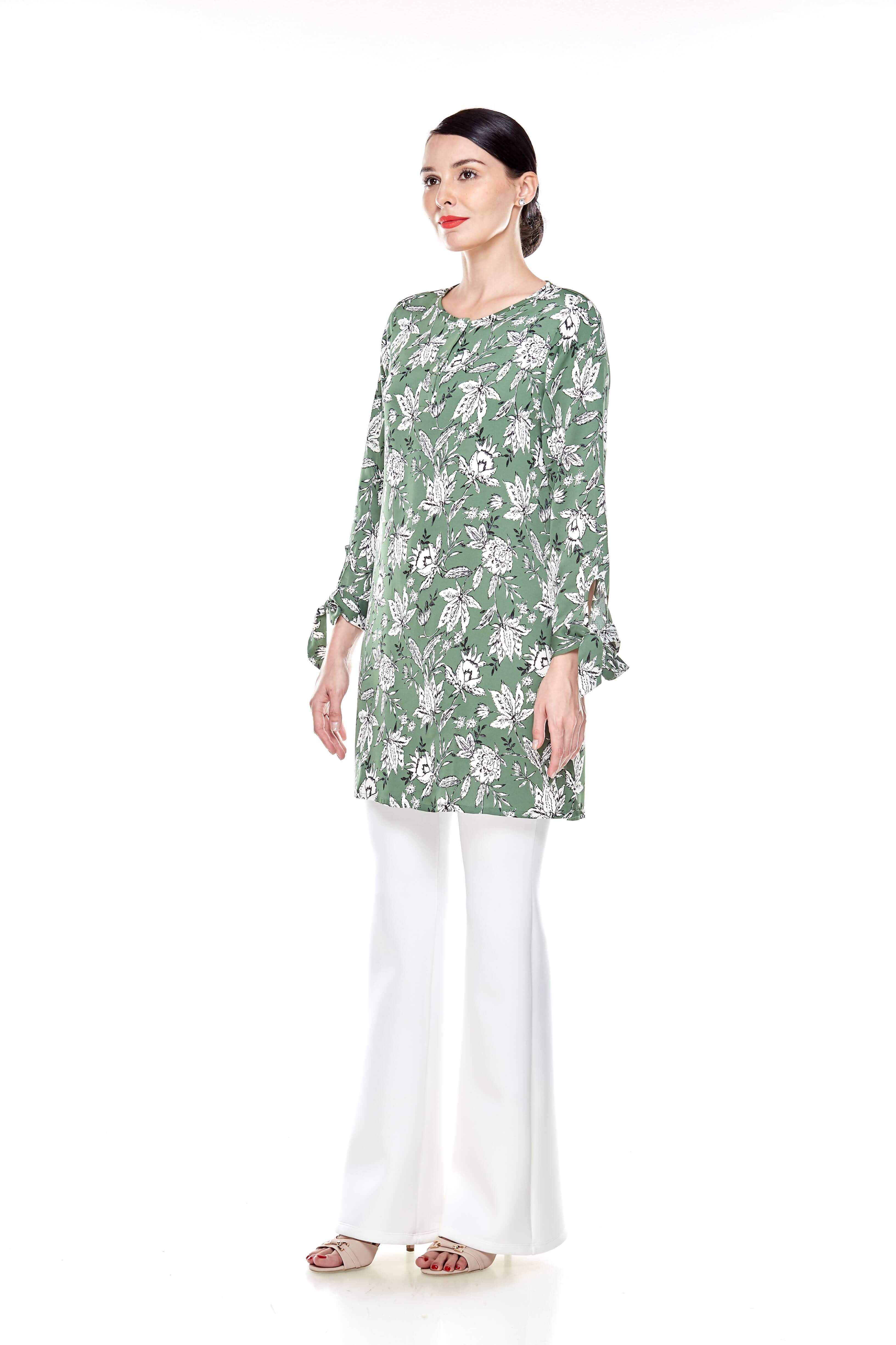 Green Printed Tunic (4)