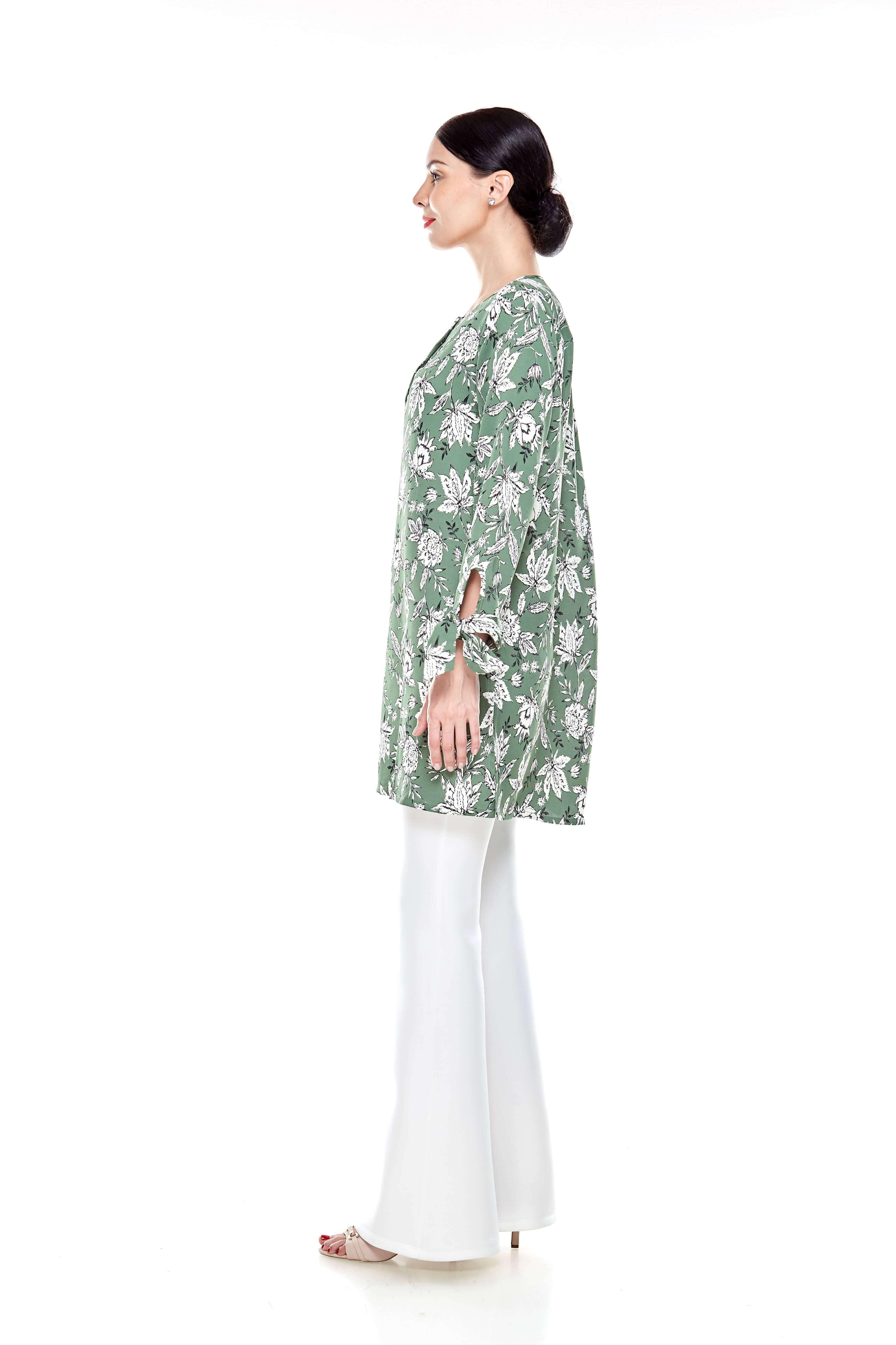 Green Printed Tunic (5)