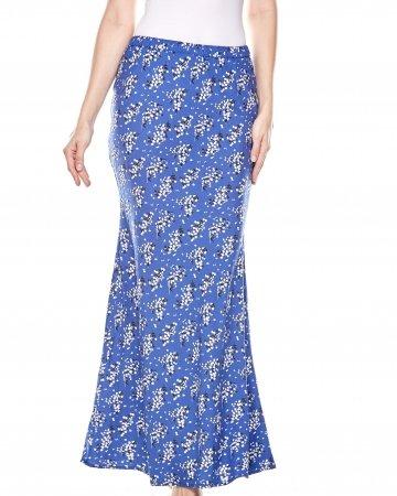 Navy Floral Mermaid Skirt