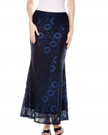 Navy French Lace Mermaid Skirt