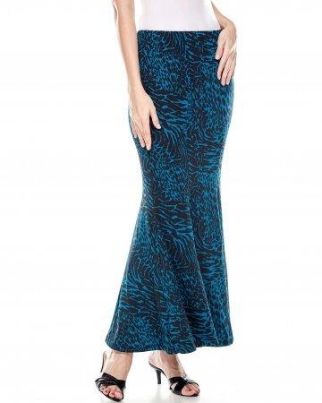 Turquoise Leo Mermaid Skirt