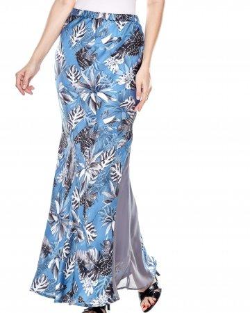 Blue Printed Mermaid Skirt