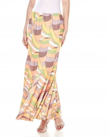 Orange Pucci 10 Panel Mermaid Skirt