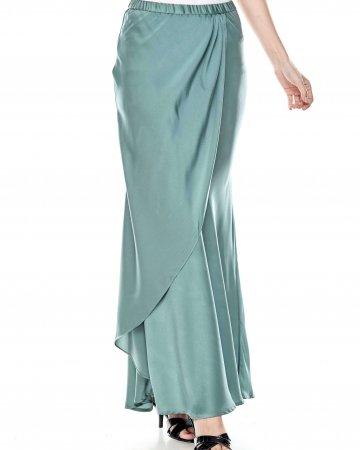 Dusty Green Overlap Skirt