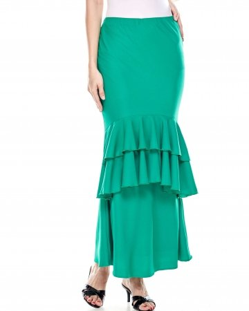 Emerald Green Ruffle Skirt