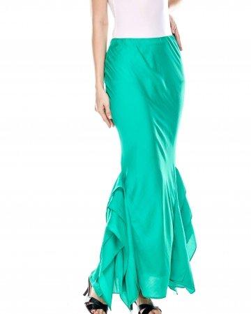 Jade Green Side Fin Skirt