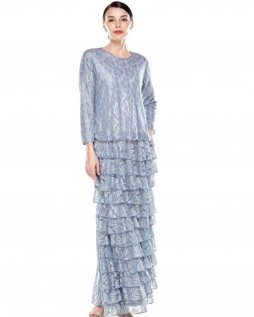 Winter Blue Tier Dress