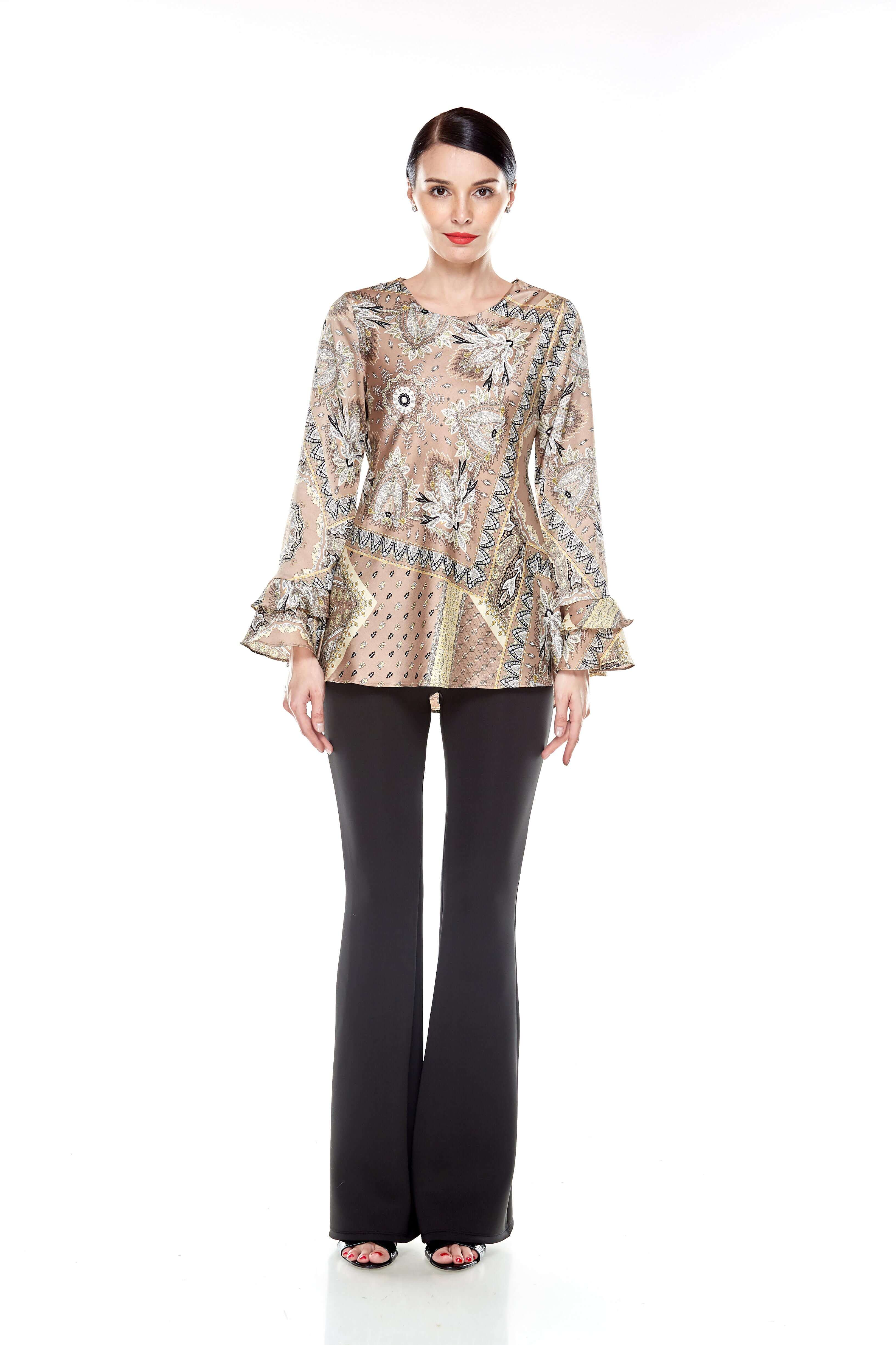 Beige Pasley Print Blouse (2)
