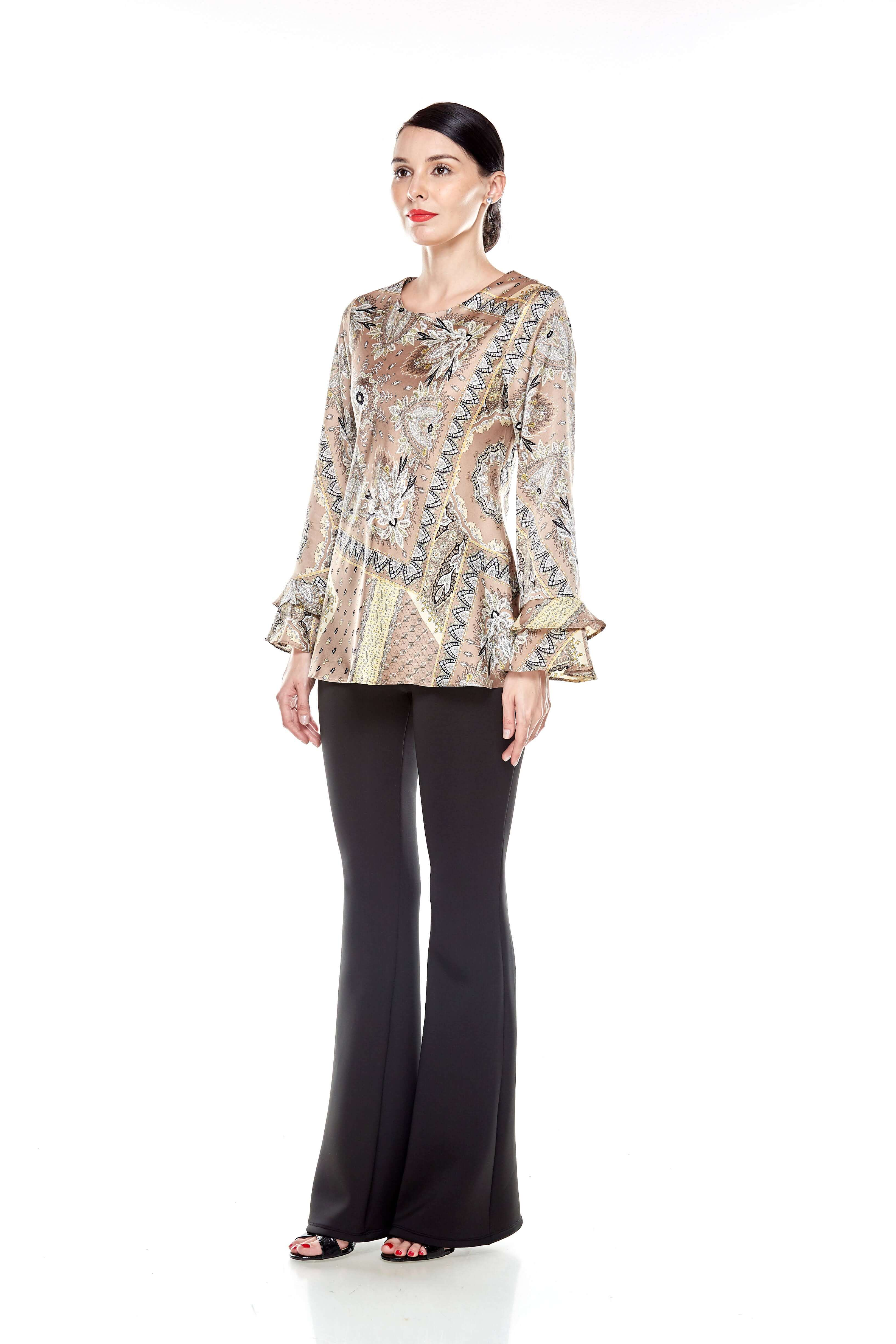 Beige Pasley Print Blouse (3)