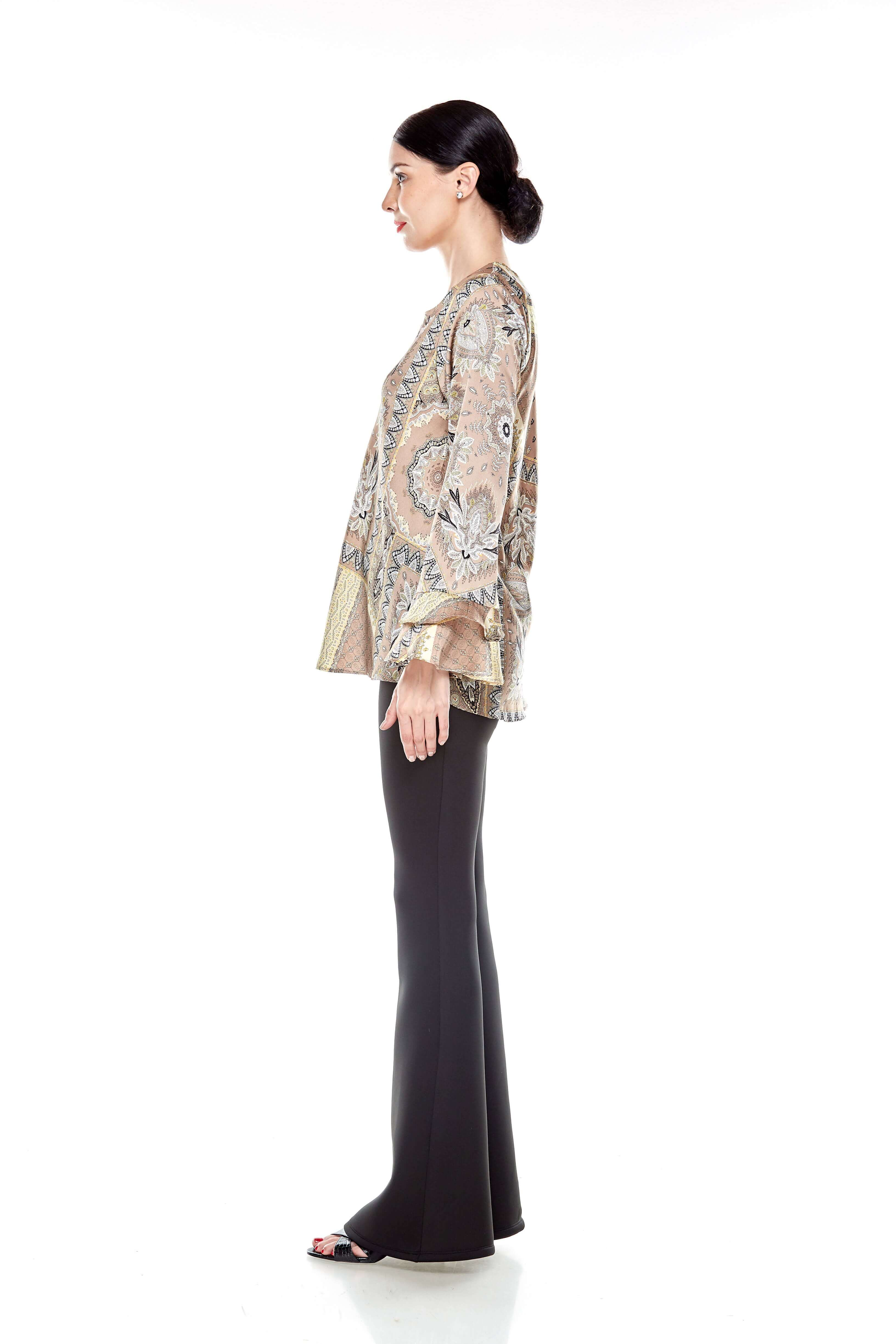 Beige Pasley Print Blouse (4)