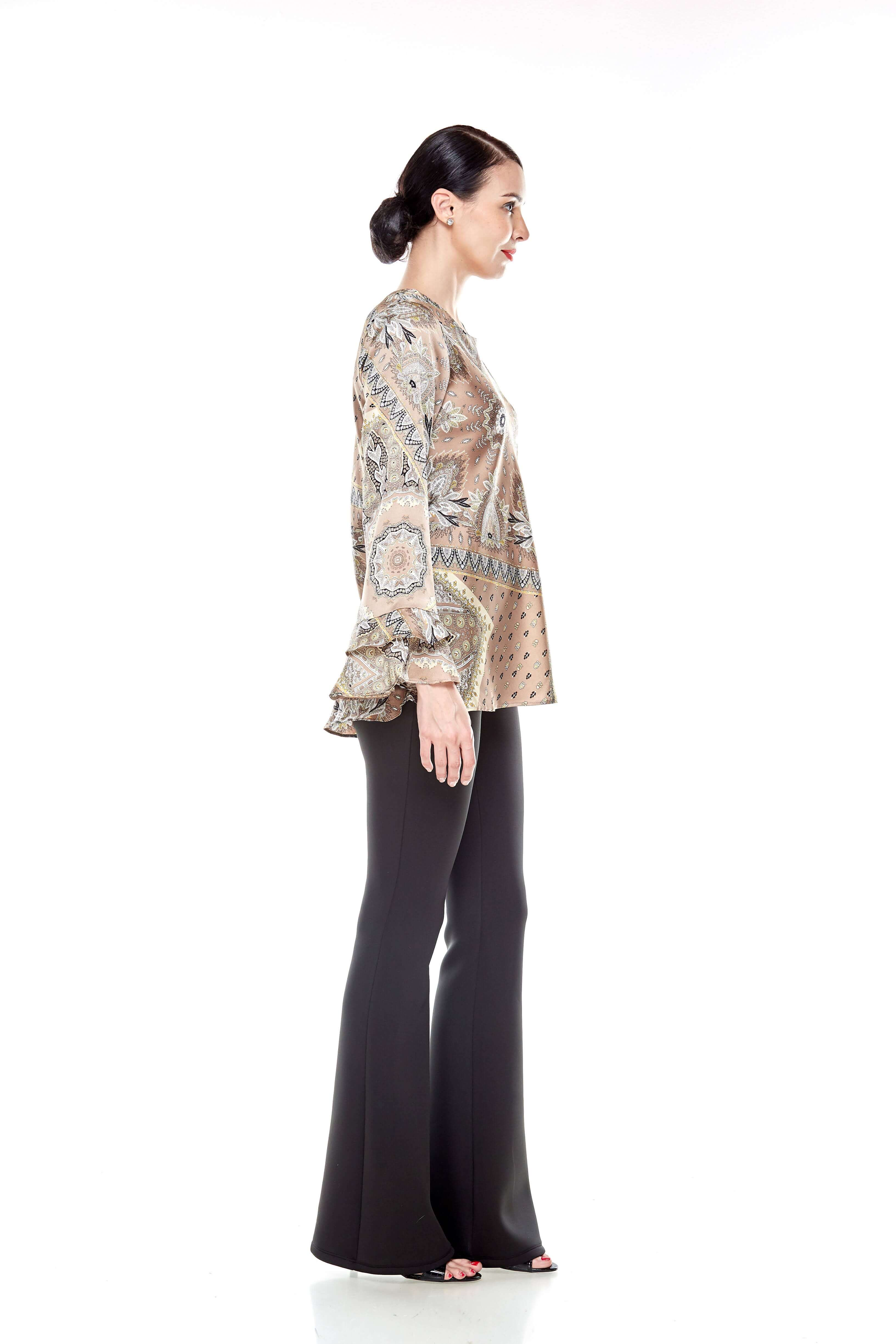 Beige Pasley Print Blouse (6)