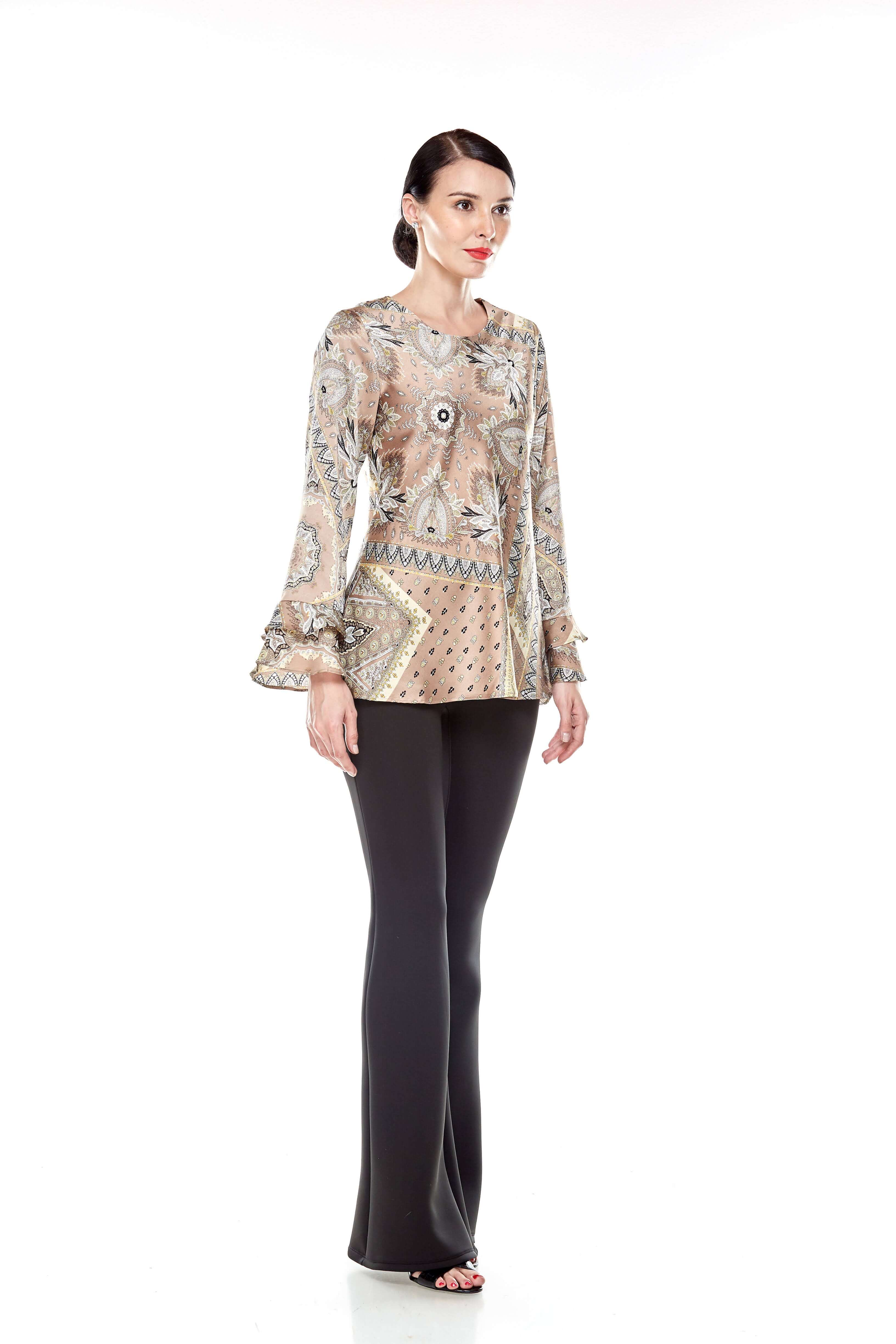 Beige Pasley Print Blouse (7)
