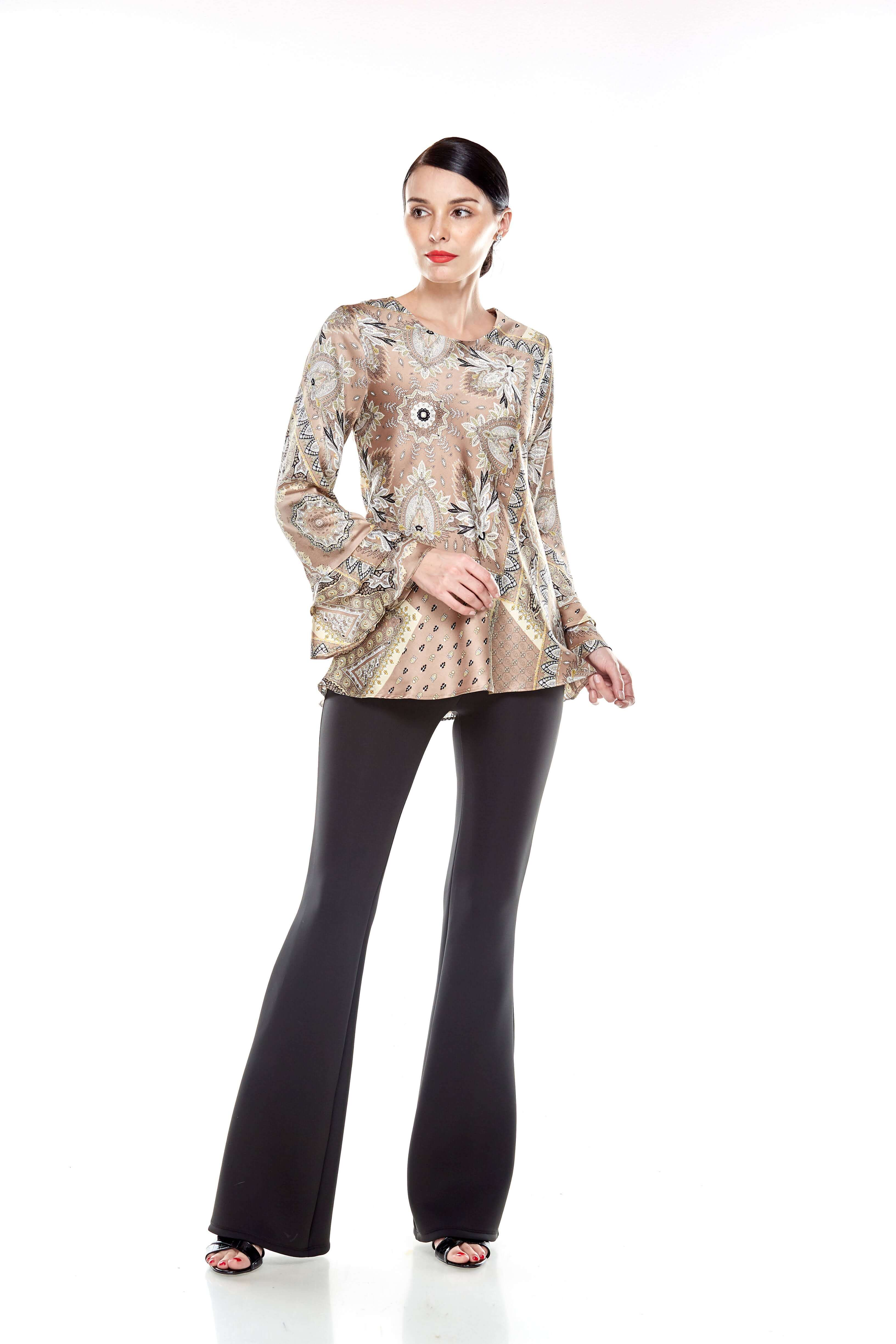 Beige Pasley Print Blouse (8)