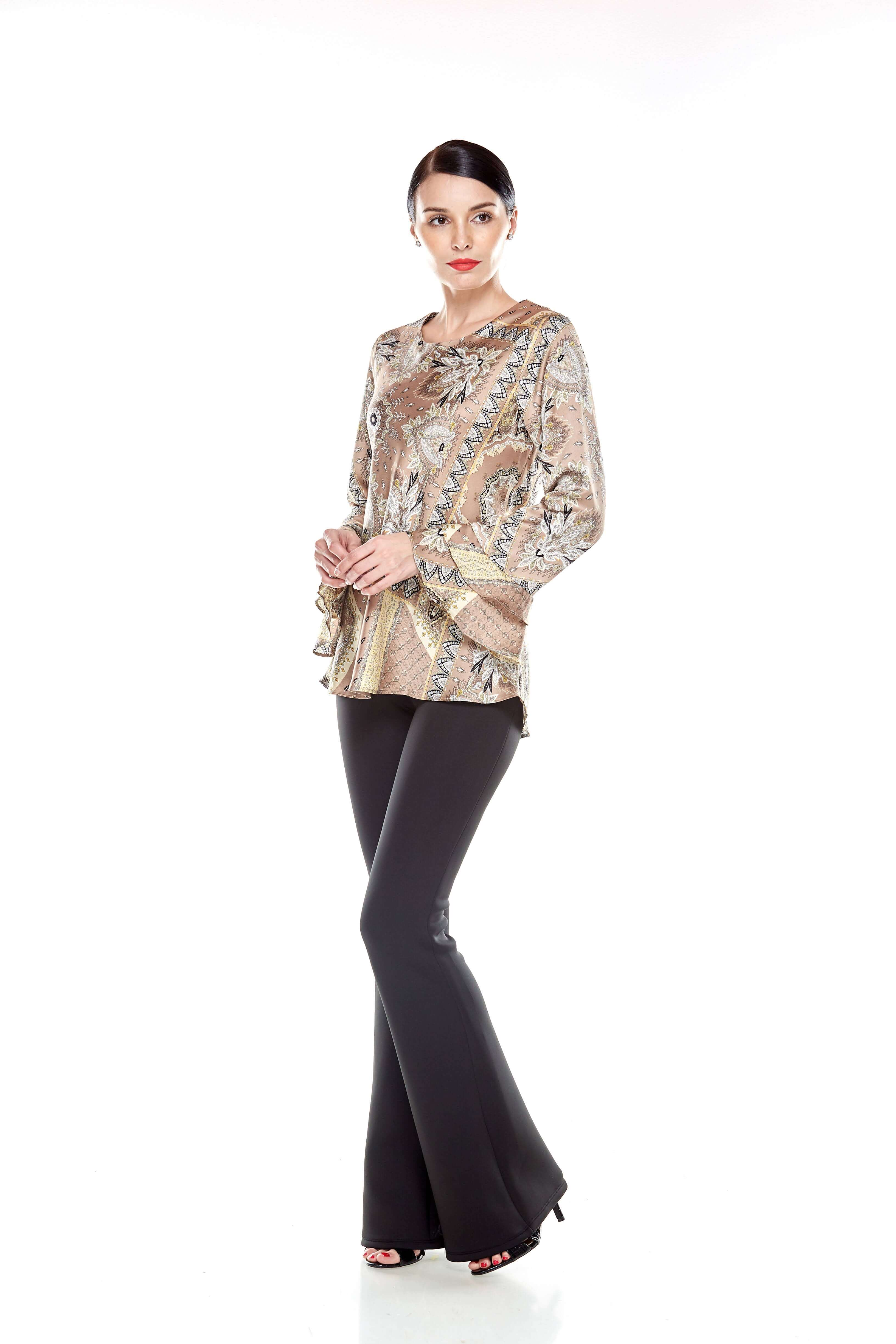 Beige Pasley Print Blouse (9)