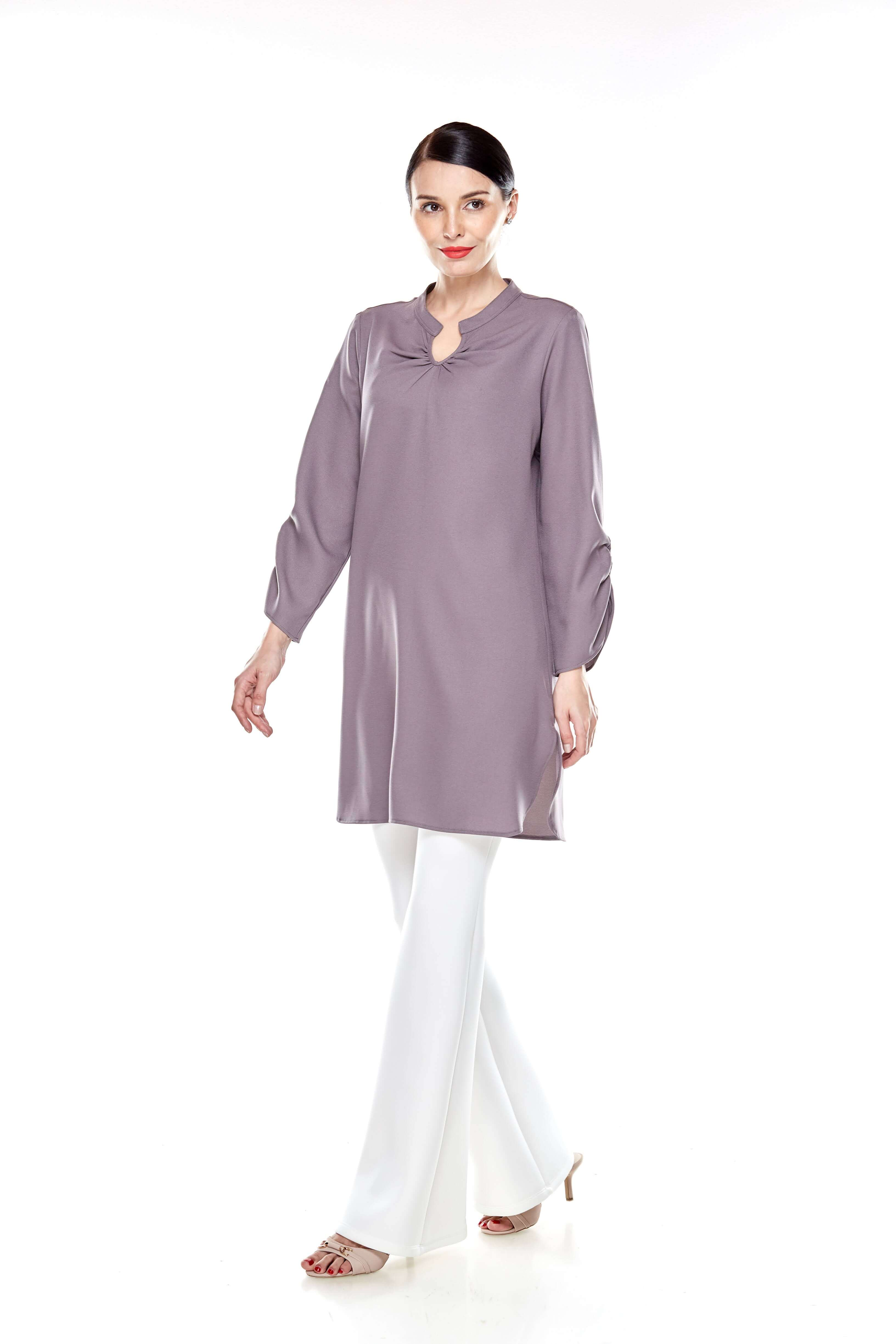 Cement Grey Shirt Blouse (10)