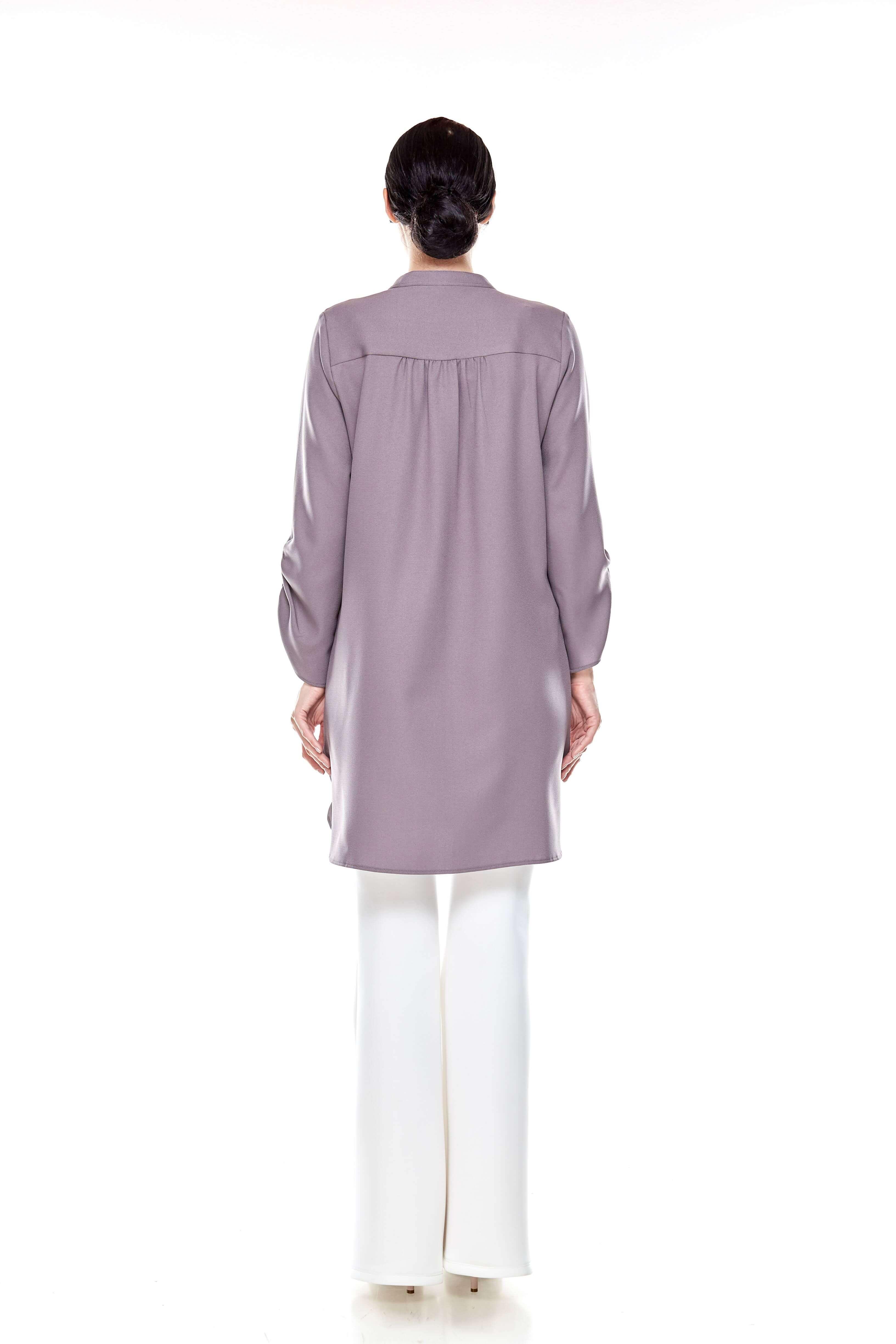 Cement Grey Shirt Blouse (5)