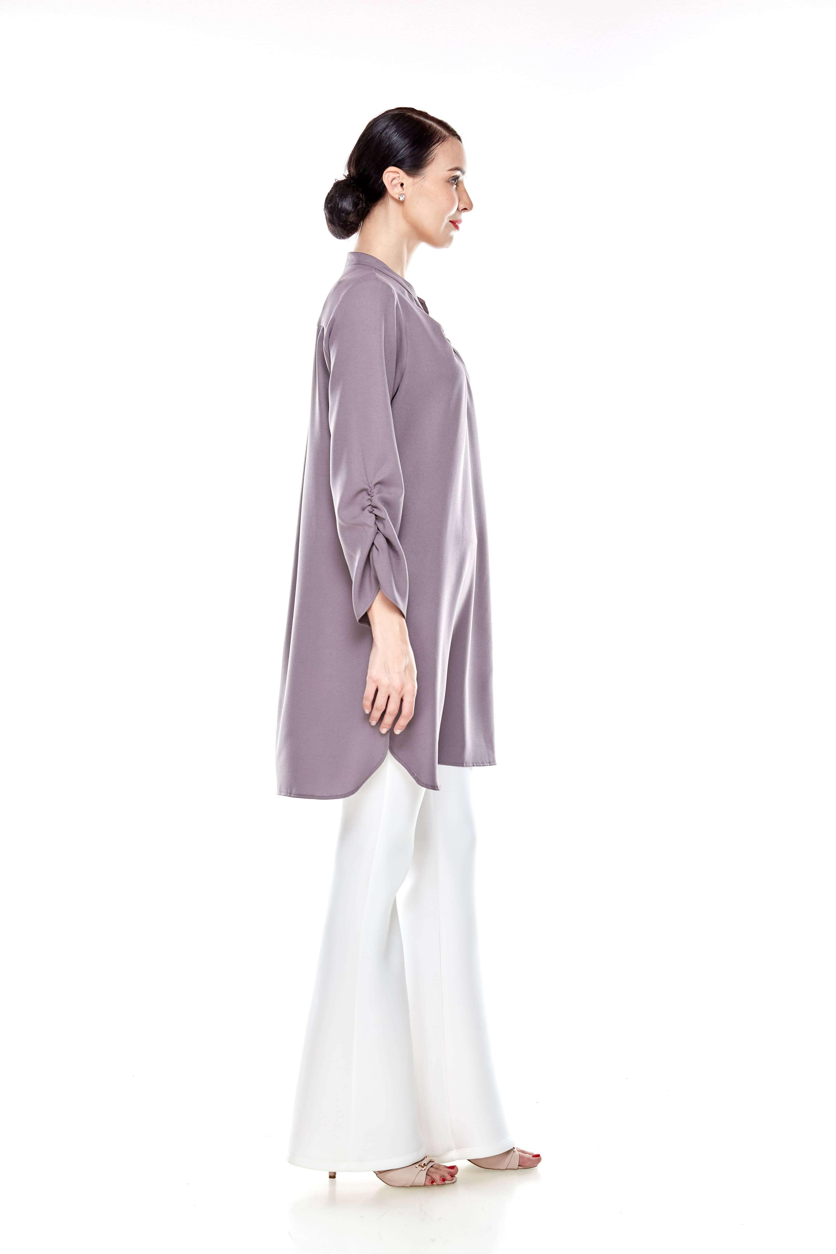 Cement Grey Shirt Blouse (6)