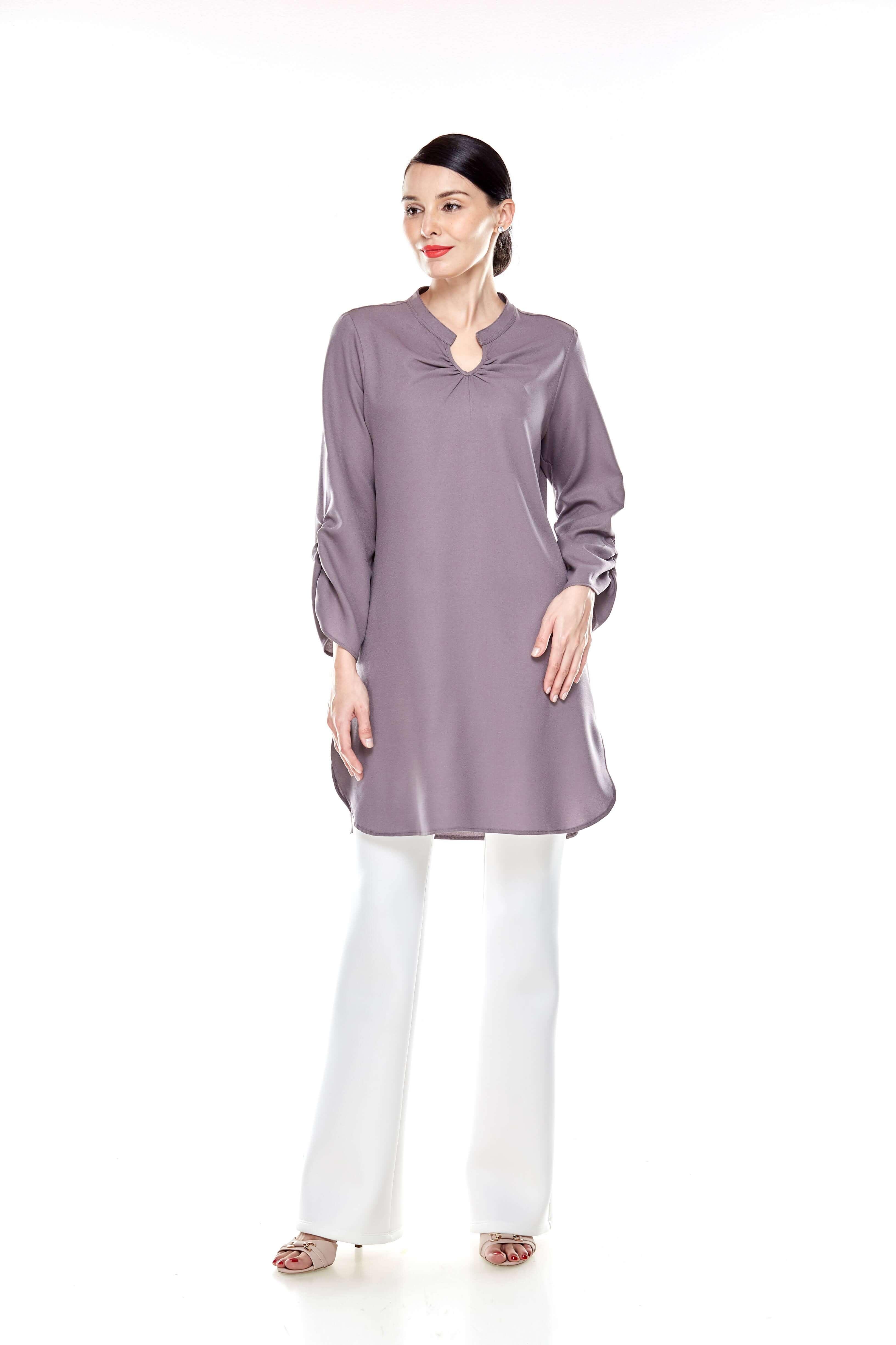 Cement Grey Shirt Blouse (9)