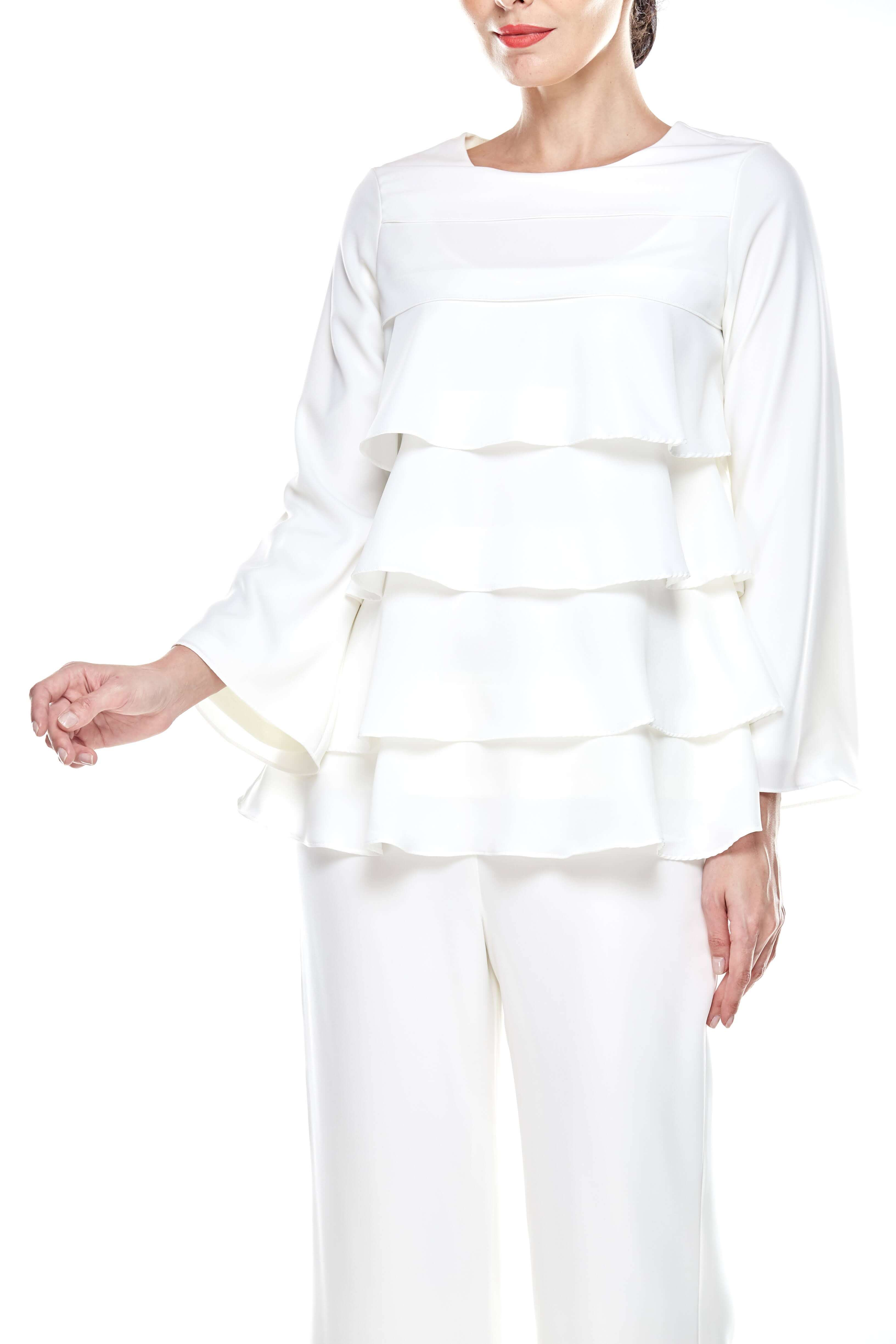 Off White Tier Blouse (3)