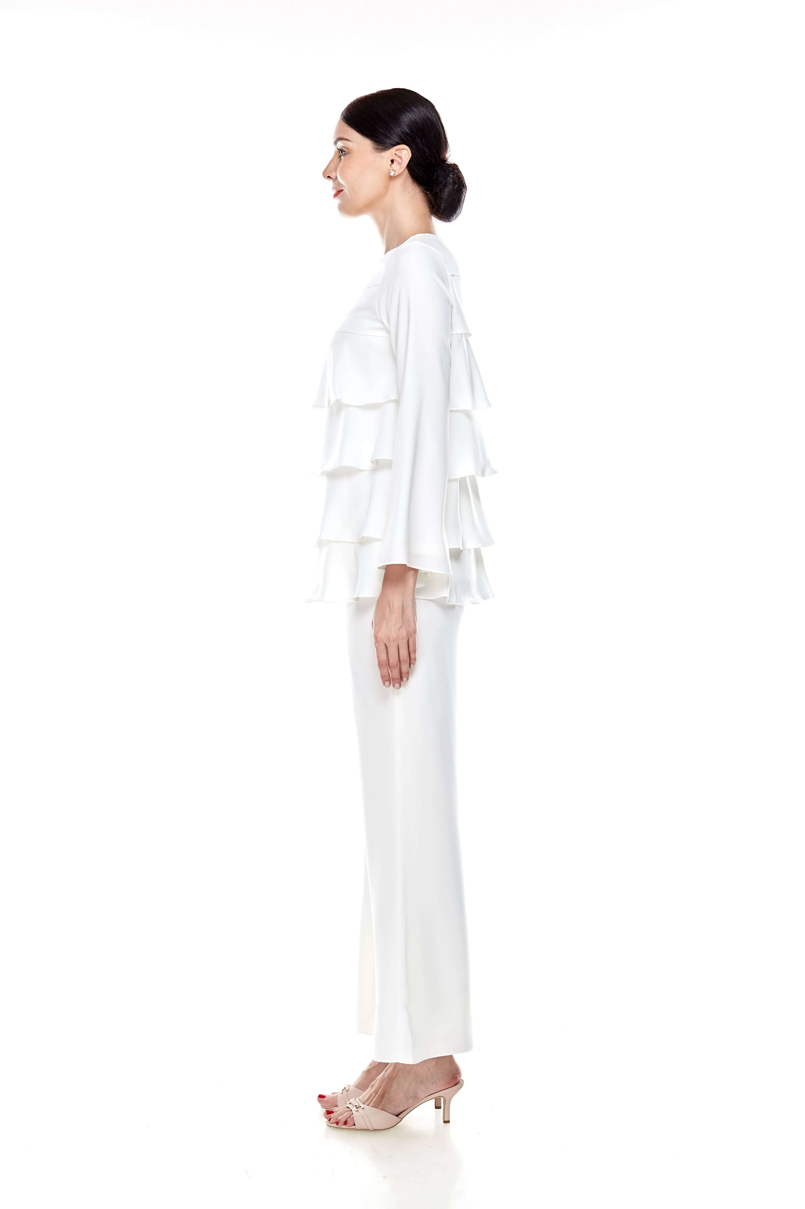 Off White Tier Blouse (6)