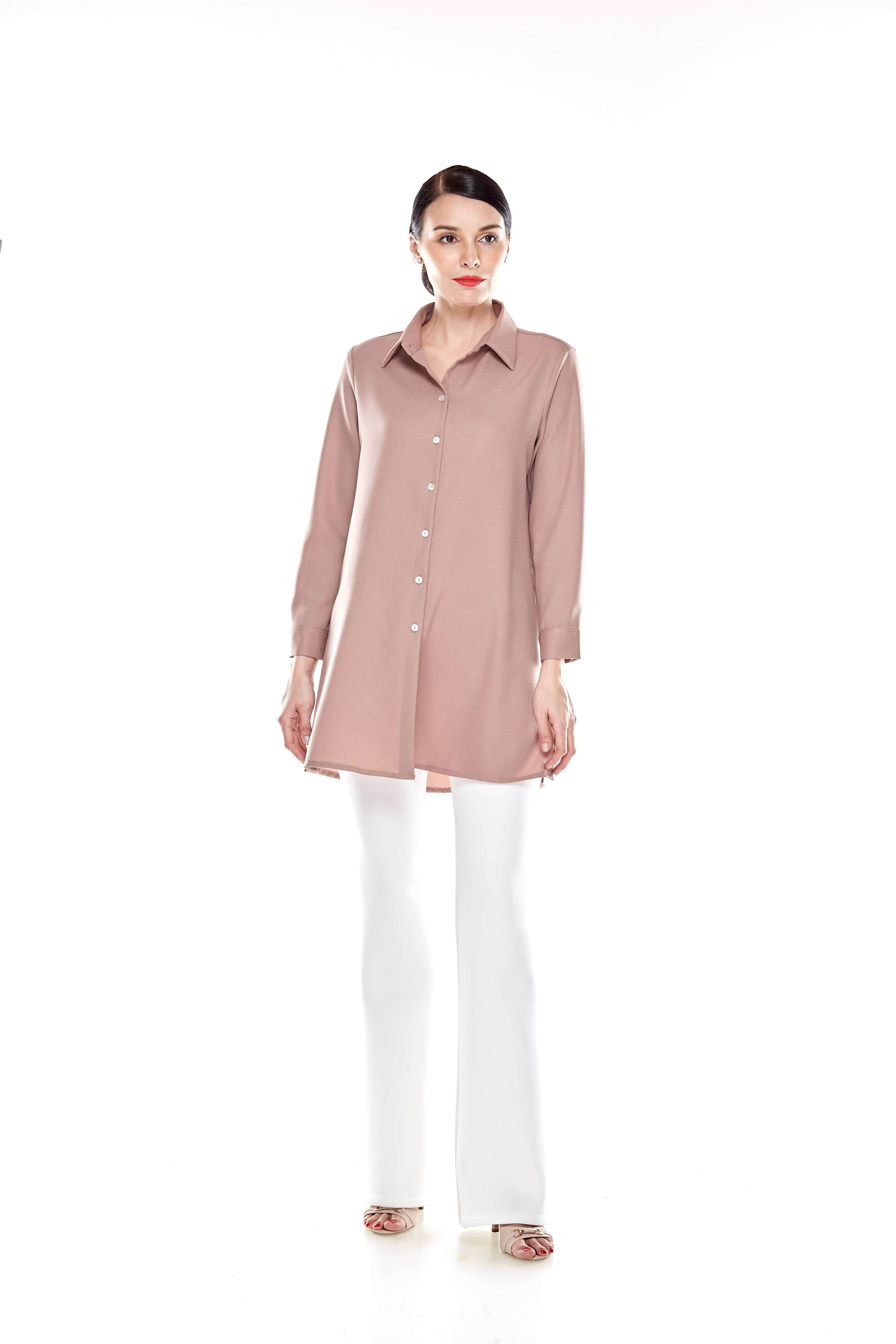 Warm Taupe Shirt Blouse (10)