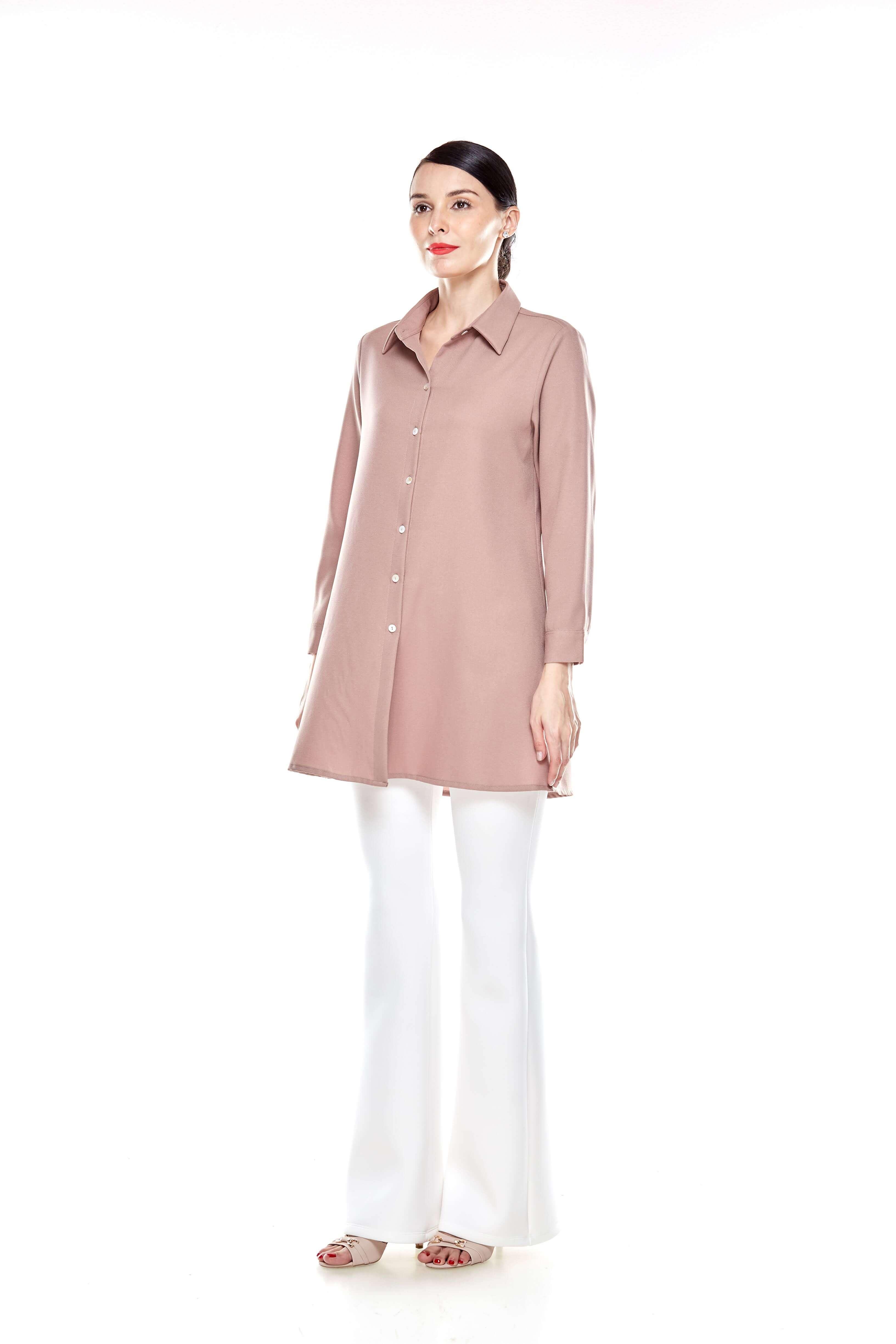 Warm Taupe Shirt Blouse (3)