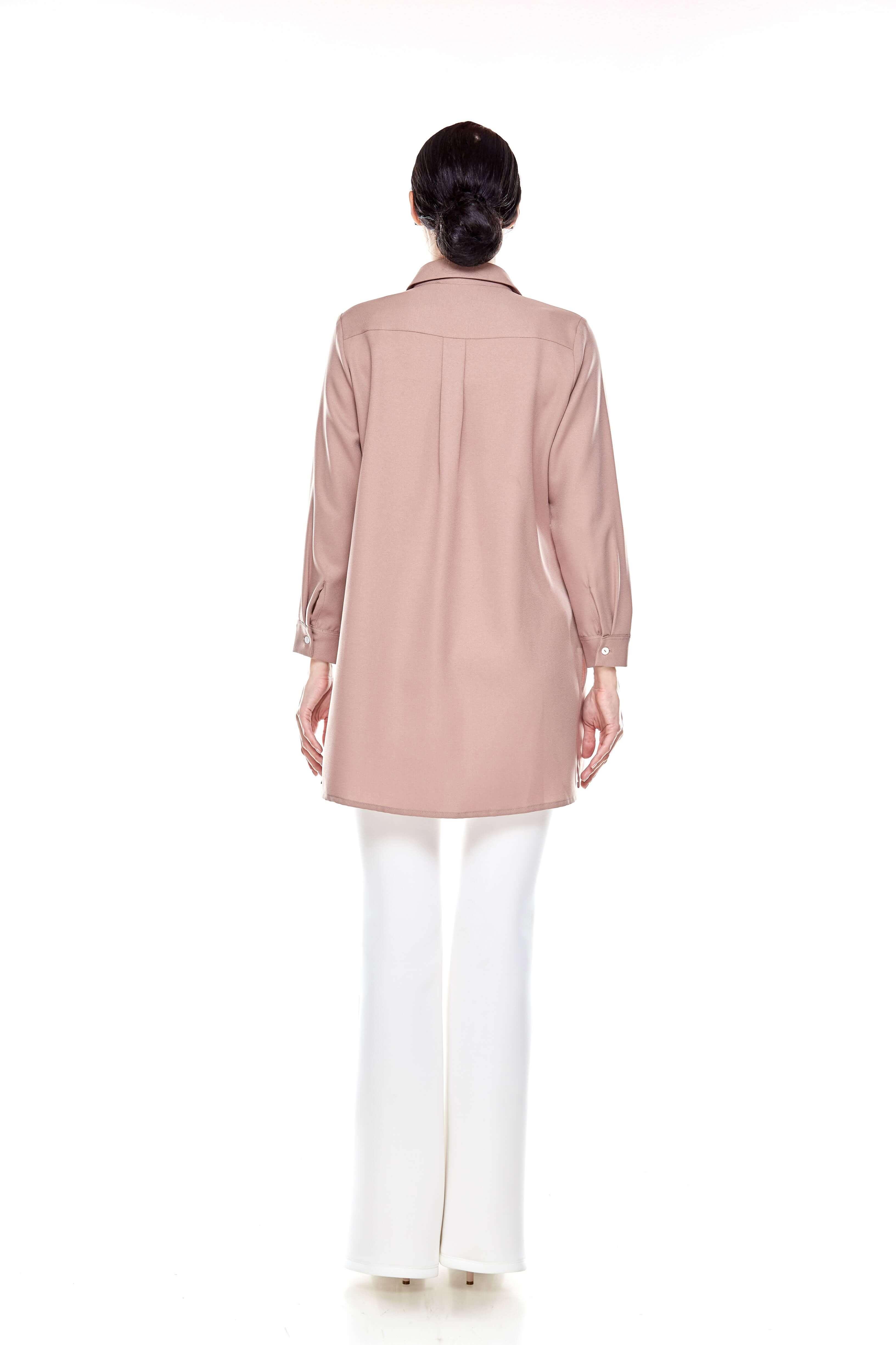 Warm Taupe Shirt Blouse (5)