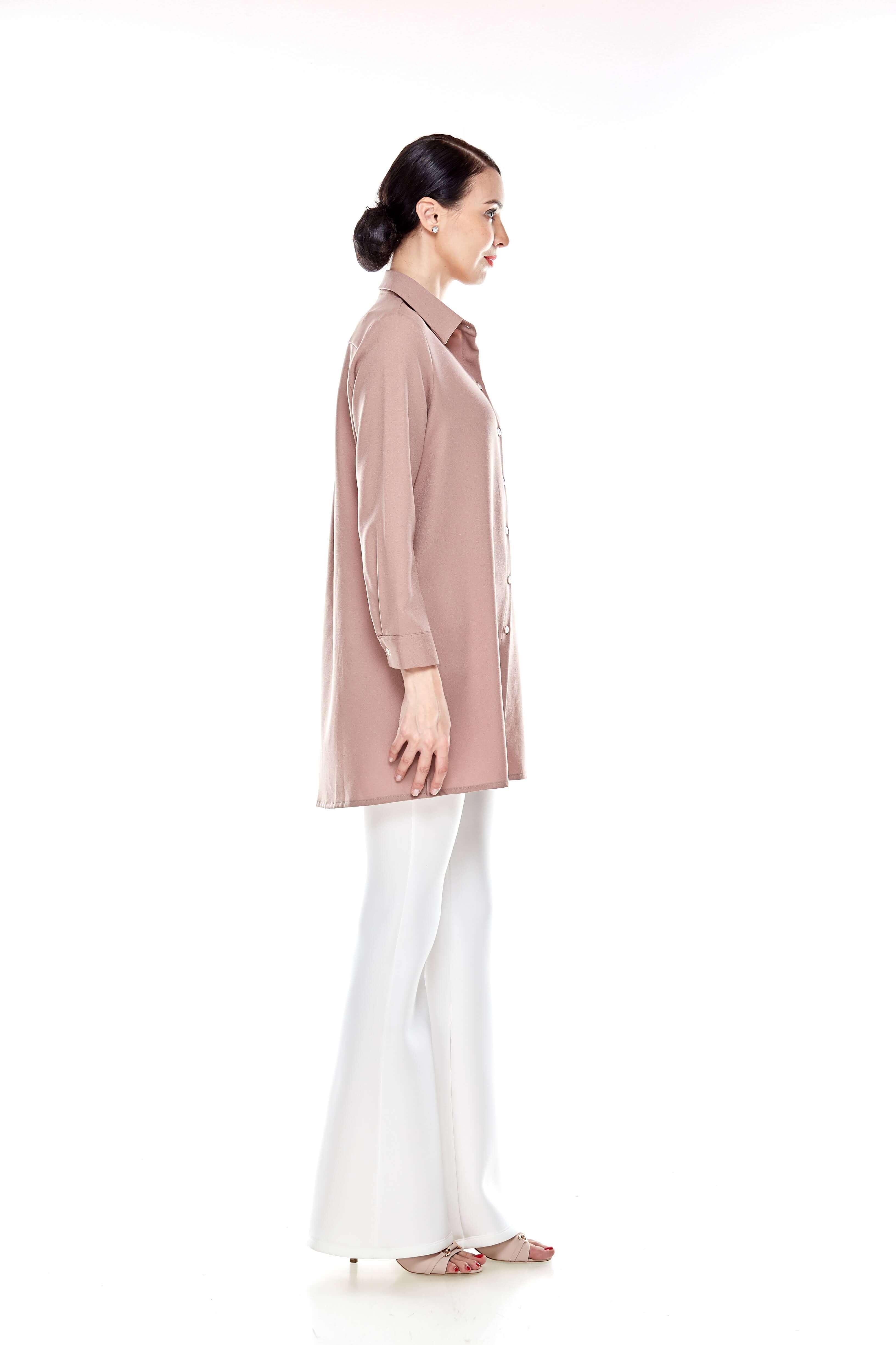 Warm Taupe Shirt Blouse (6)