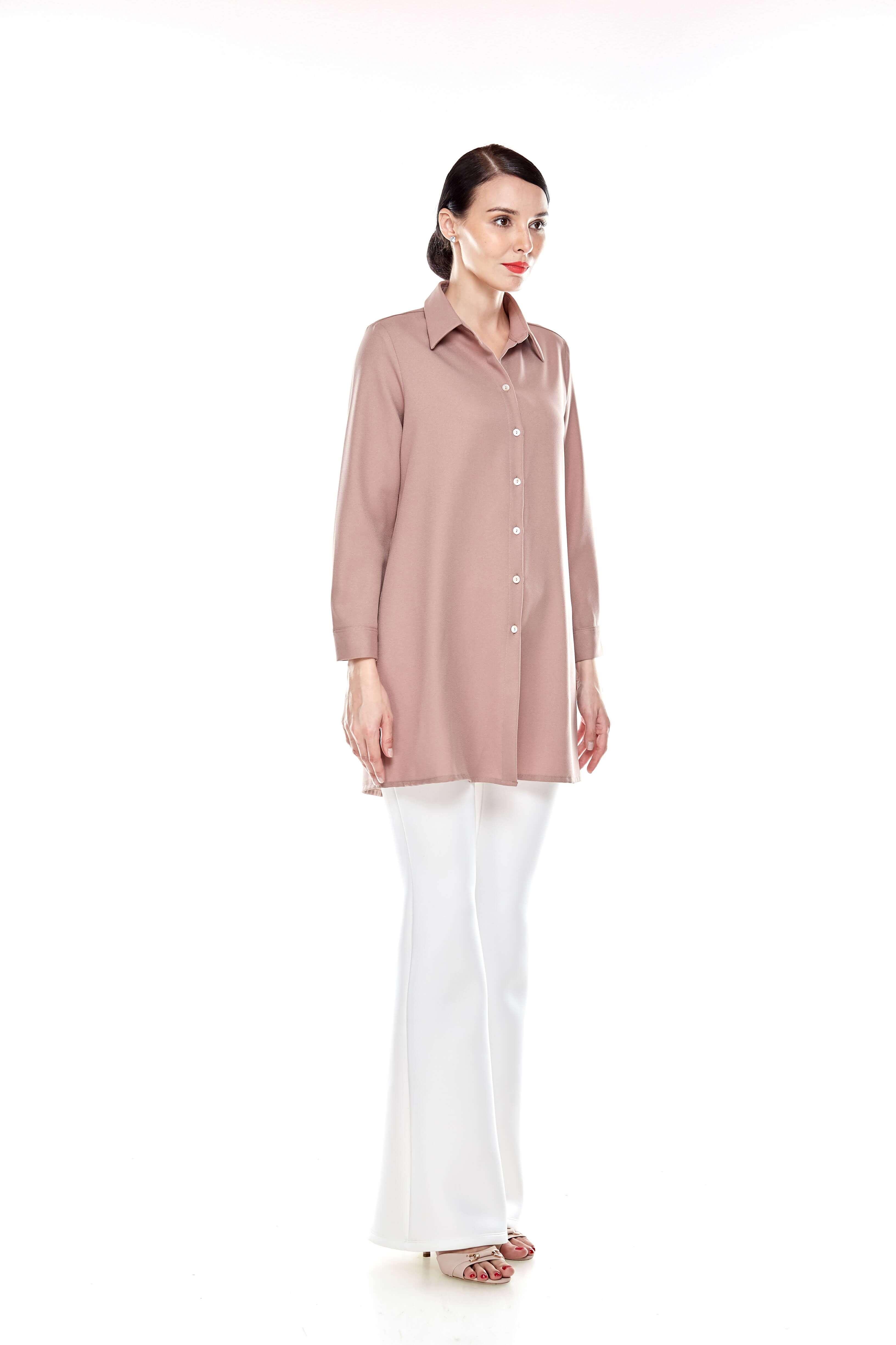 Warm Taupe Shirt Blouse (7)