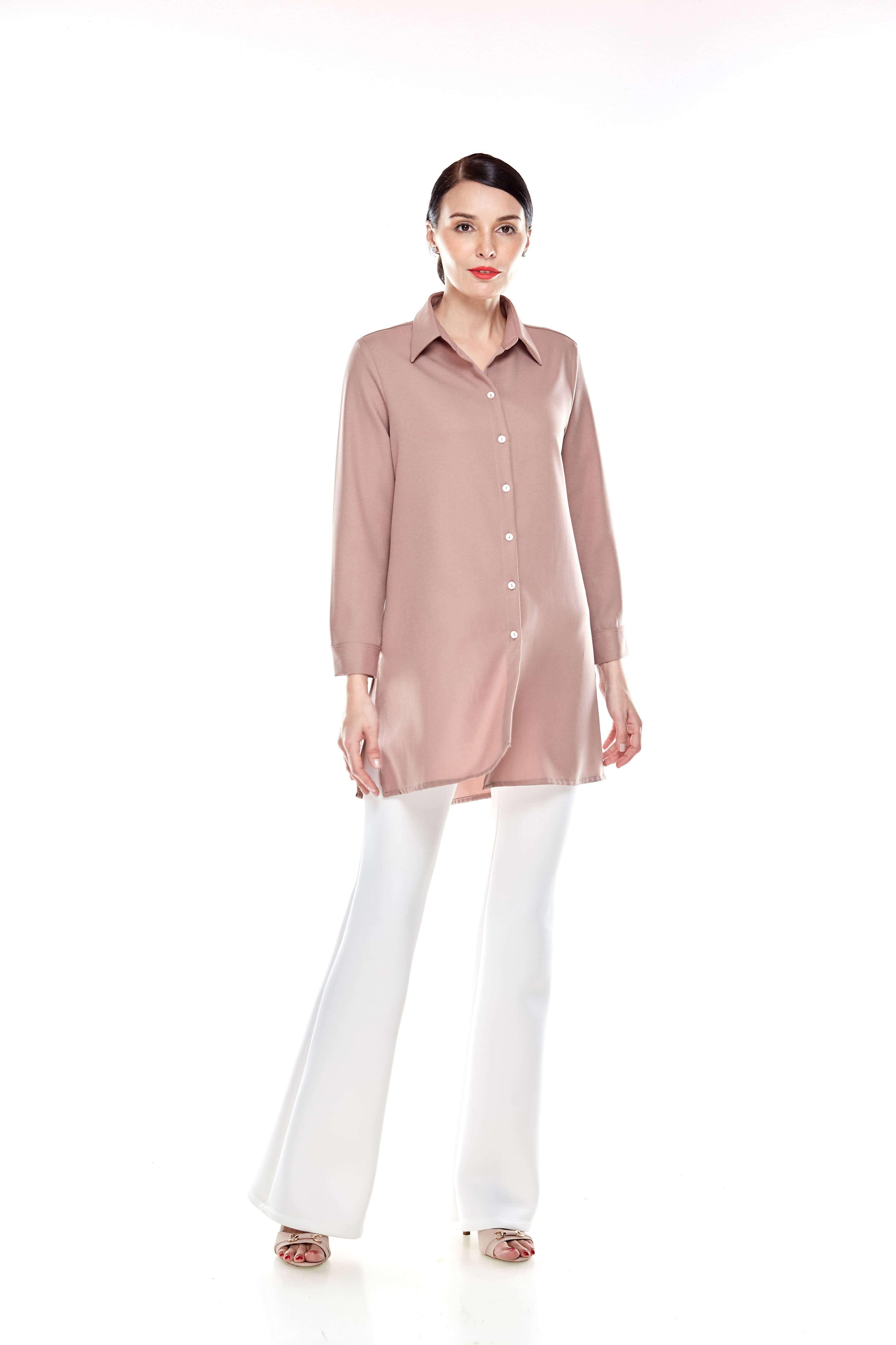 Warm Taupe Shirt Blouse (9)