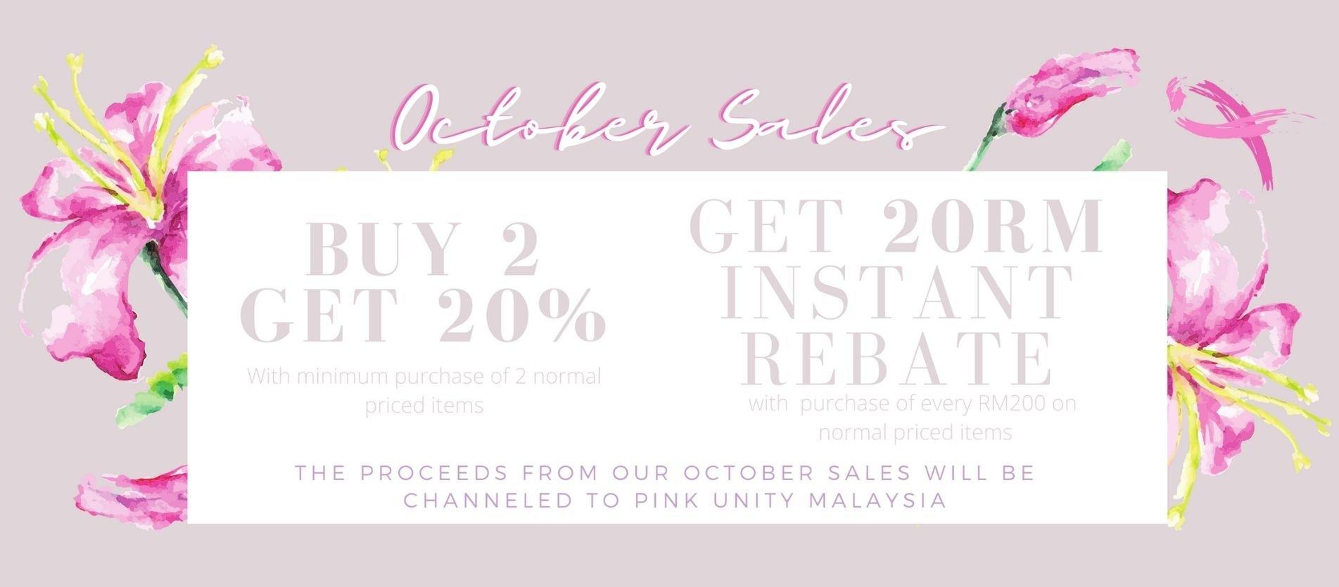 October 2020 sale banner