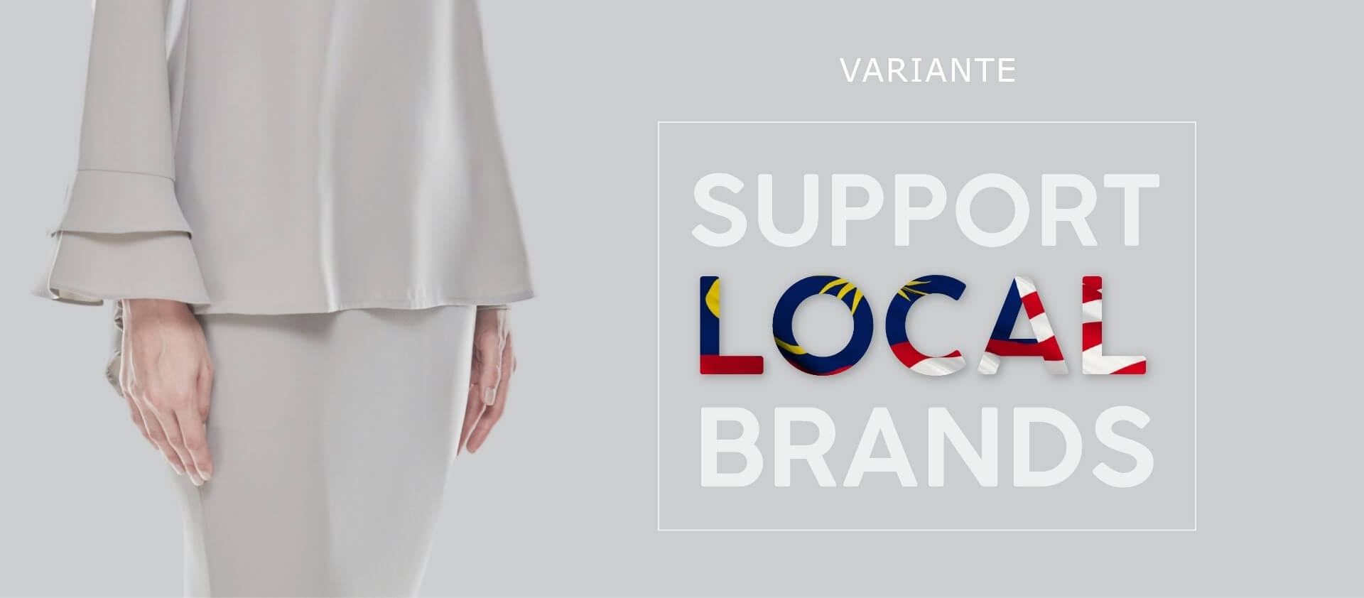 Support local brands banner