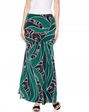 Black Green Chain Mermaid Skirt