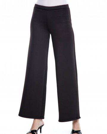 Black Neoprene Palazo Pants