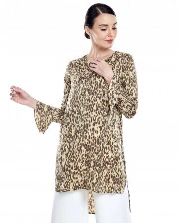 Brown Leopard Print Blouse
