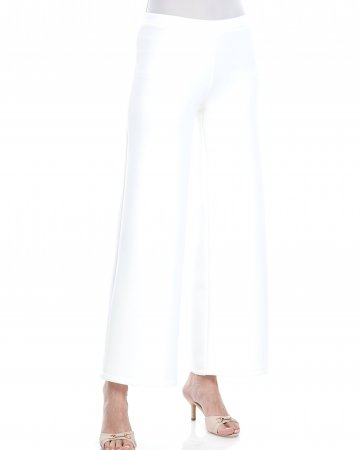 White Neoprene Palazo Pants