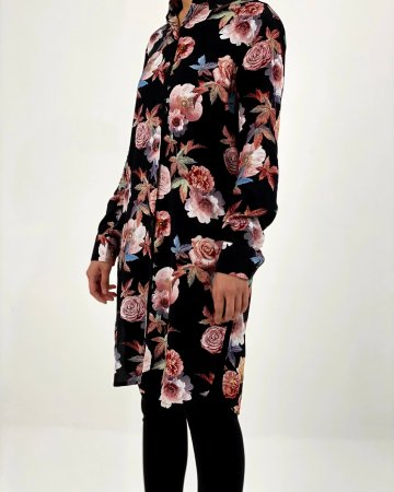 Black Rose Shirt Blouse