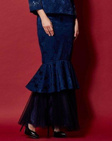 Navy Mermaid Skirt With Soft Netting